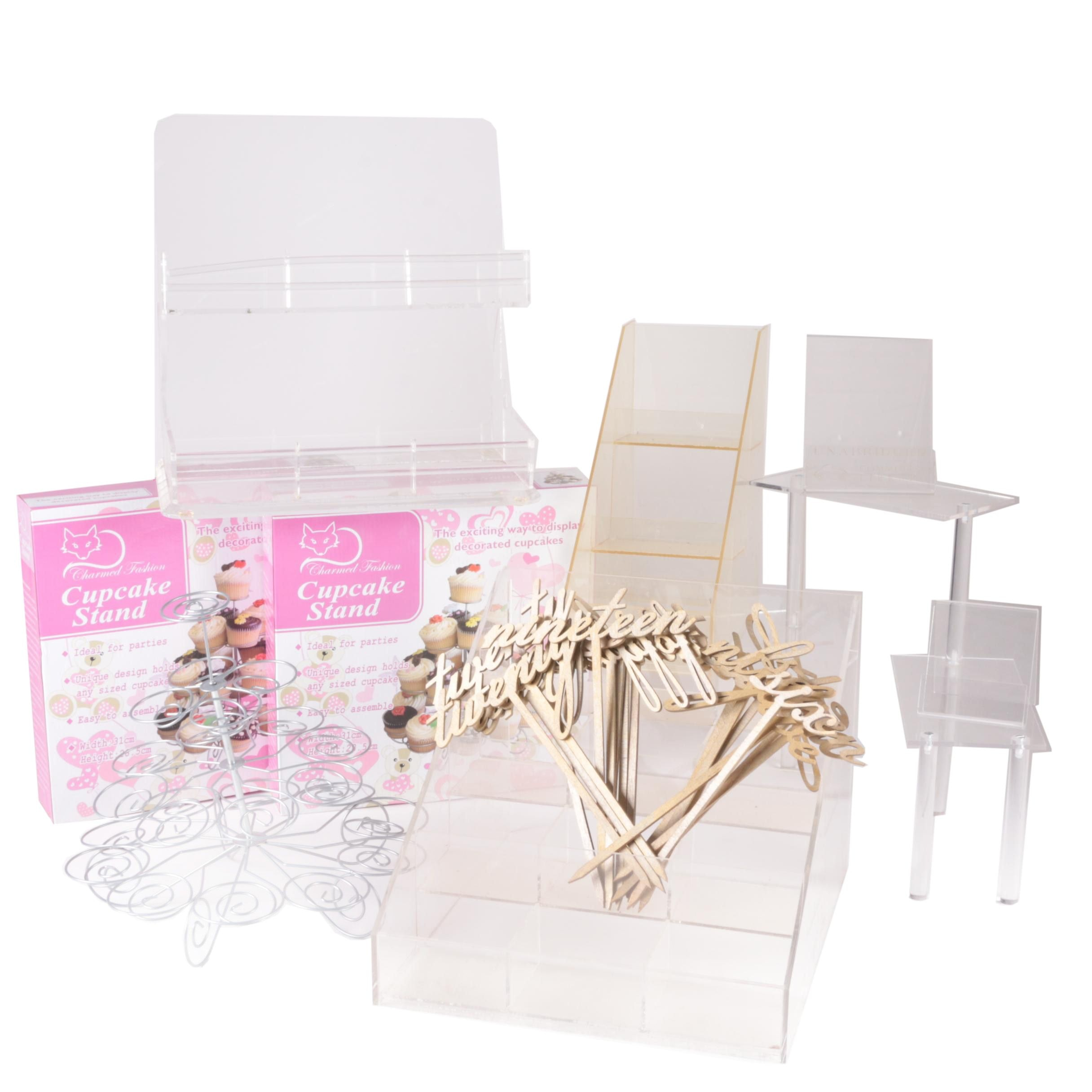 Charmed Fashion Cupcake Stands with Acrylic Retail Displays