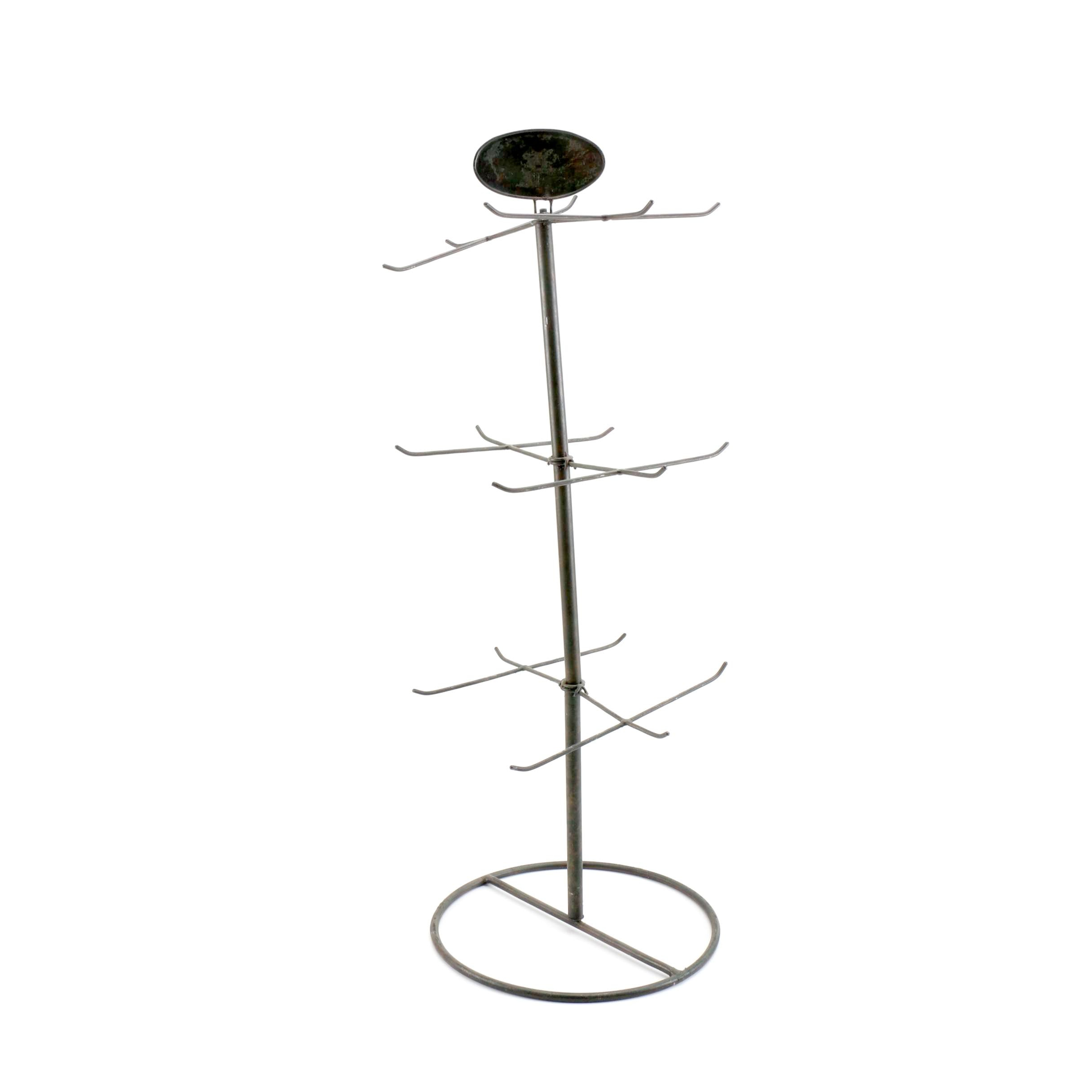 Vintage Metal Spinning Jewelry Display Stand