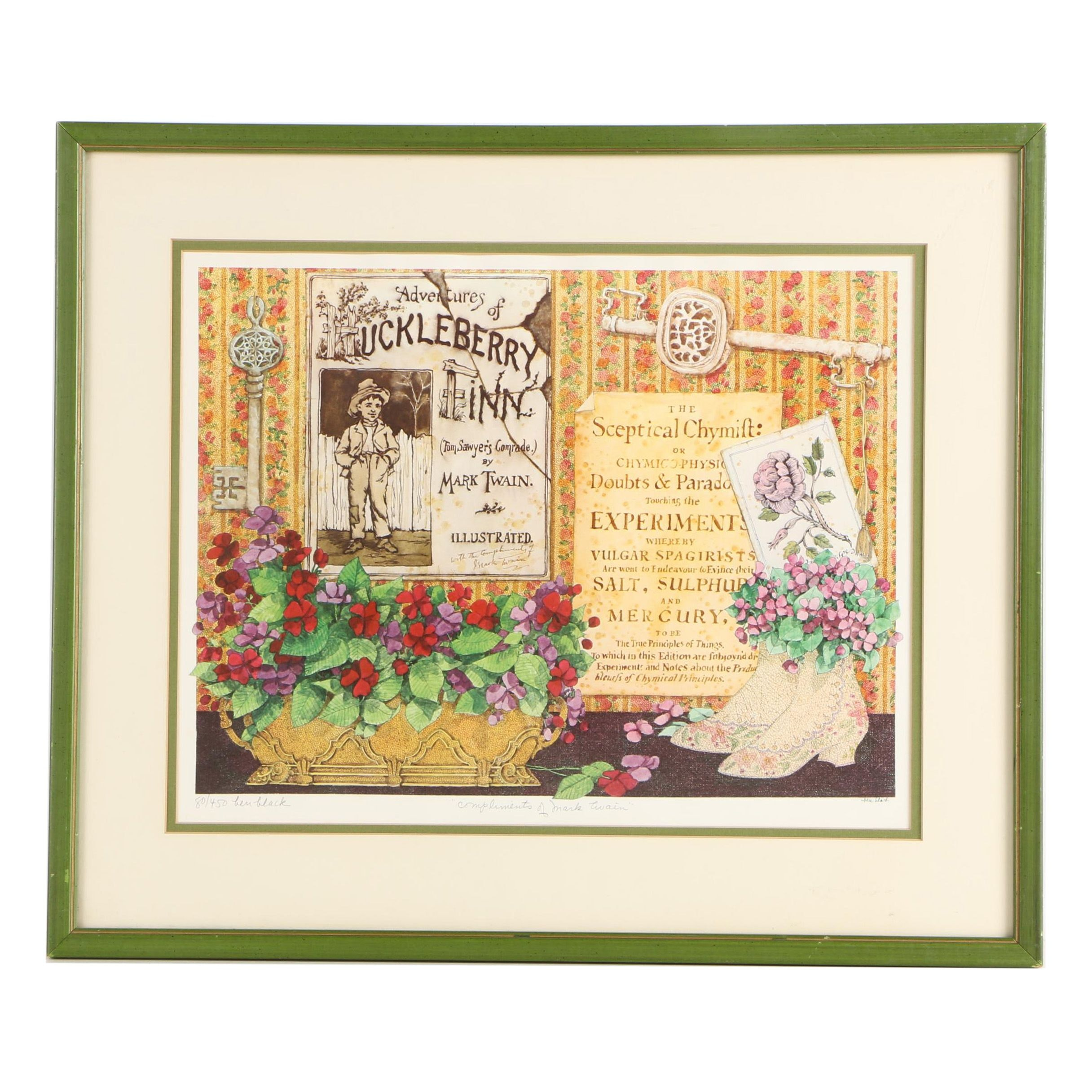 """Limited Edition Offset Lithograph after Ben Black's """"Compliments of Mark Twain"""""""
