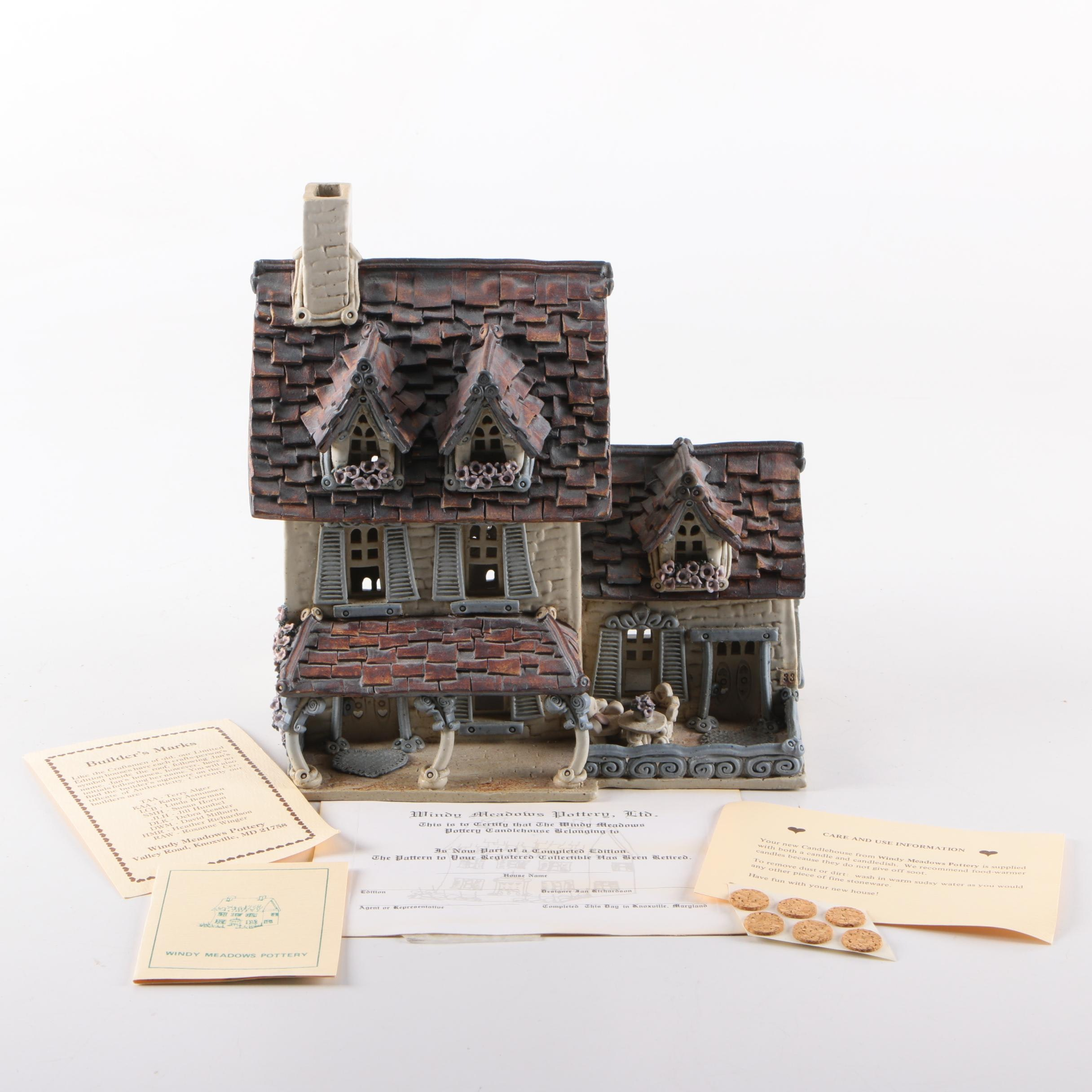 """Windy Meadows Hand Built Retired Candle House """"Banjo Town"""""""
