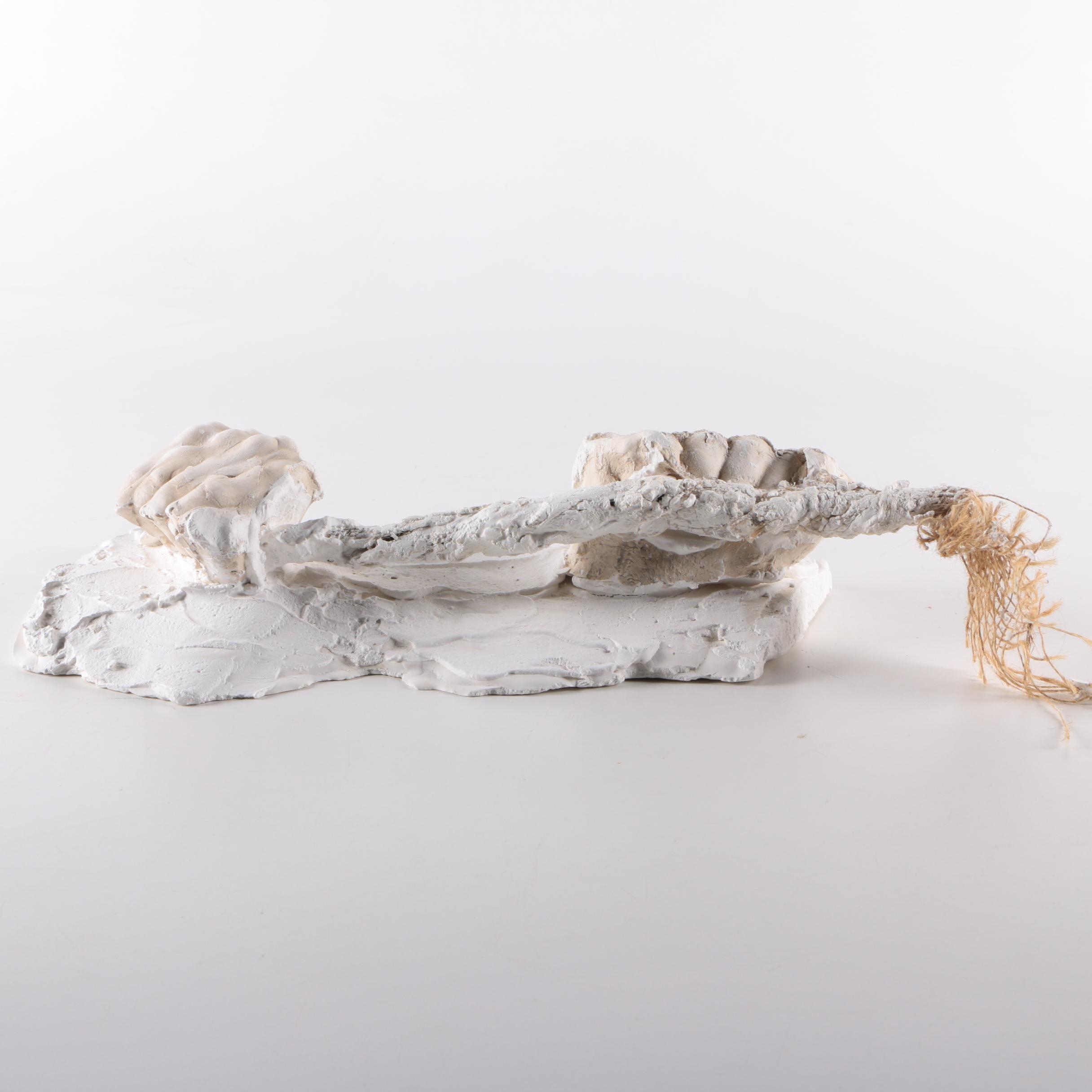 Plaster Hands Sculpture