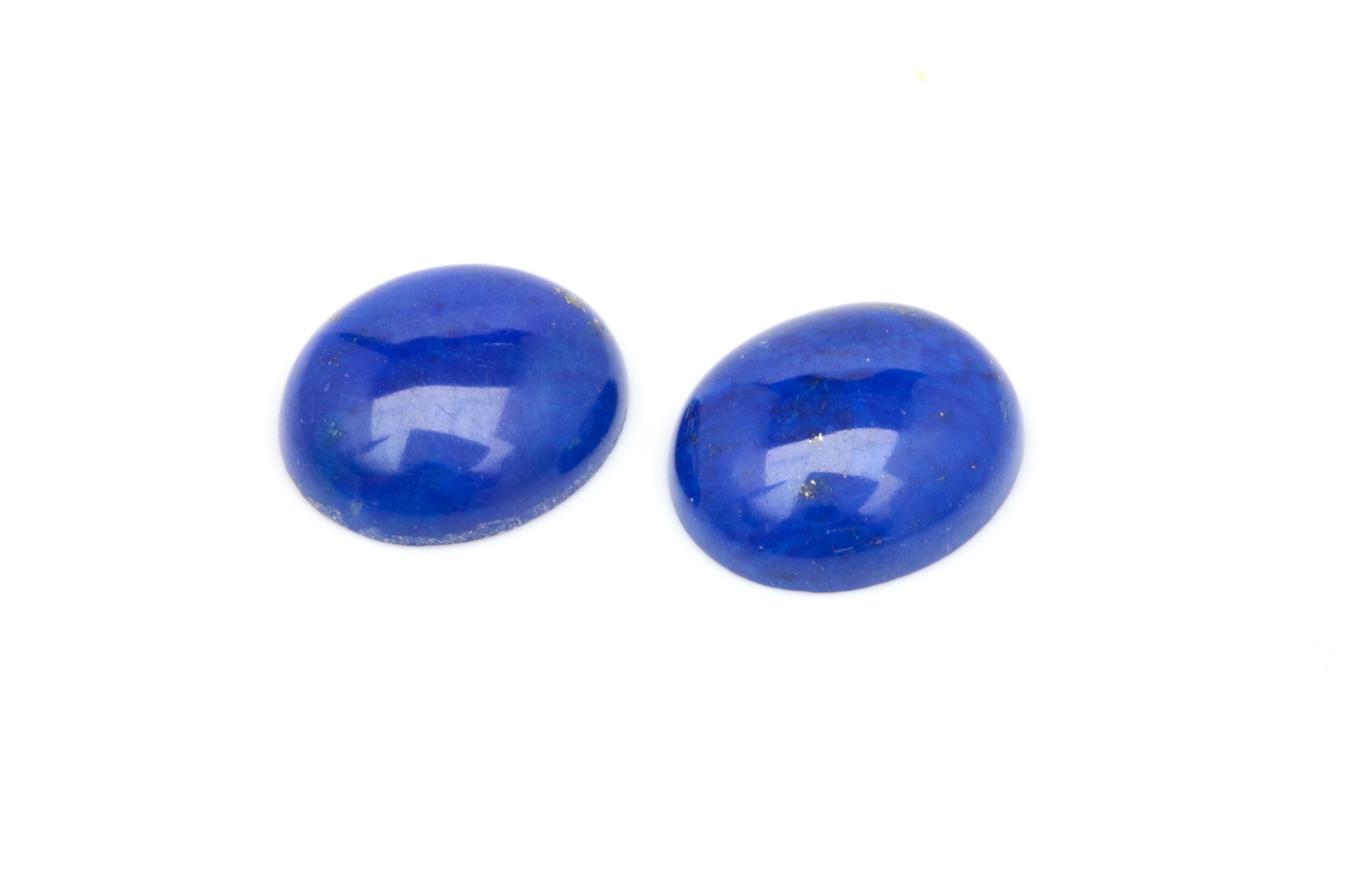 Two Loose Lapis Lazuli Cabochons