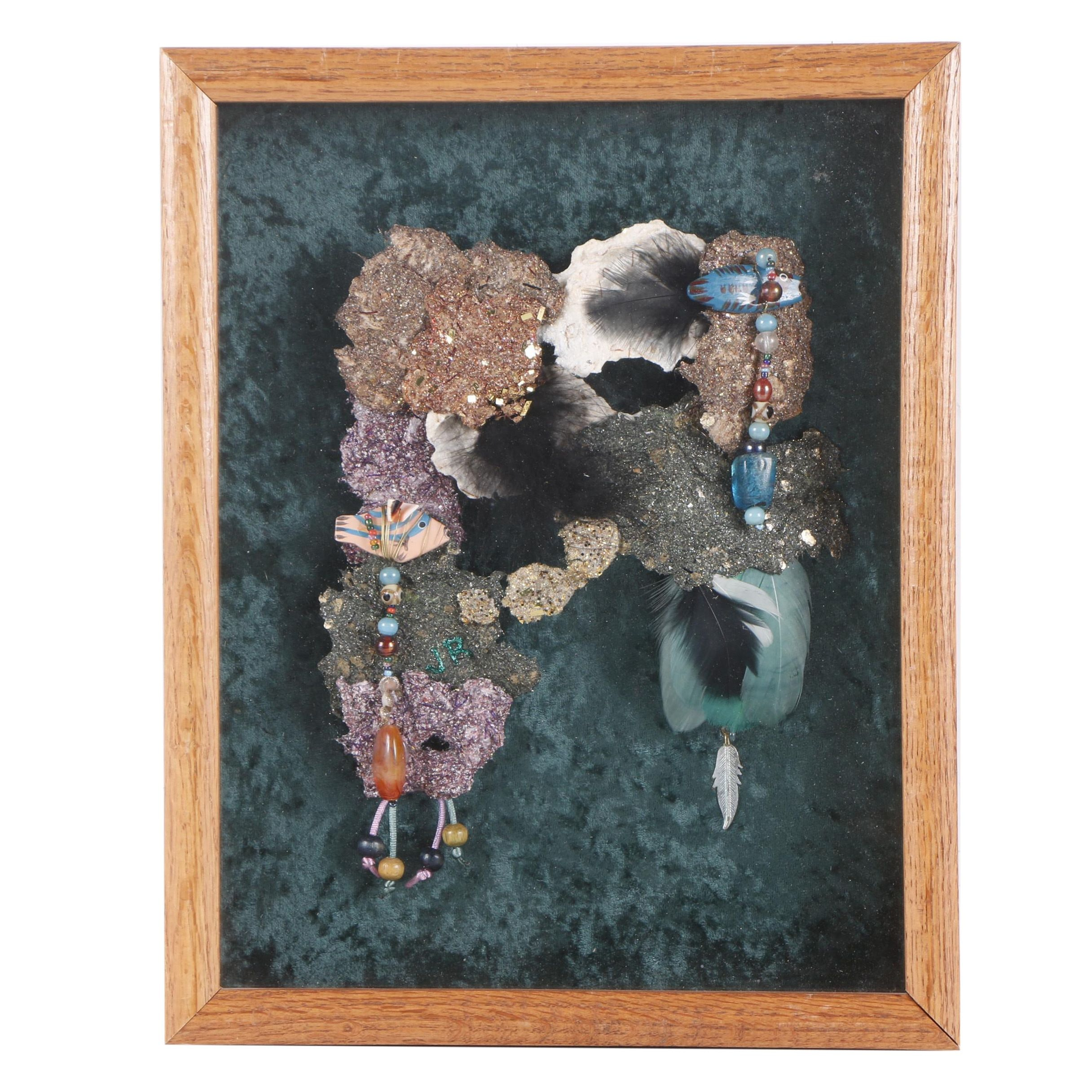 "Jo Rawlinson Mixed Media Composition ""Underwater Scene"""
