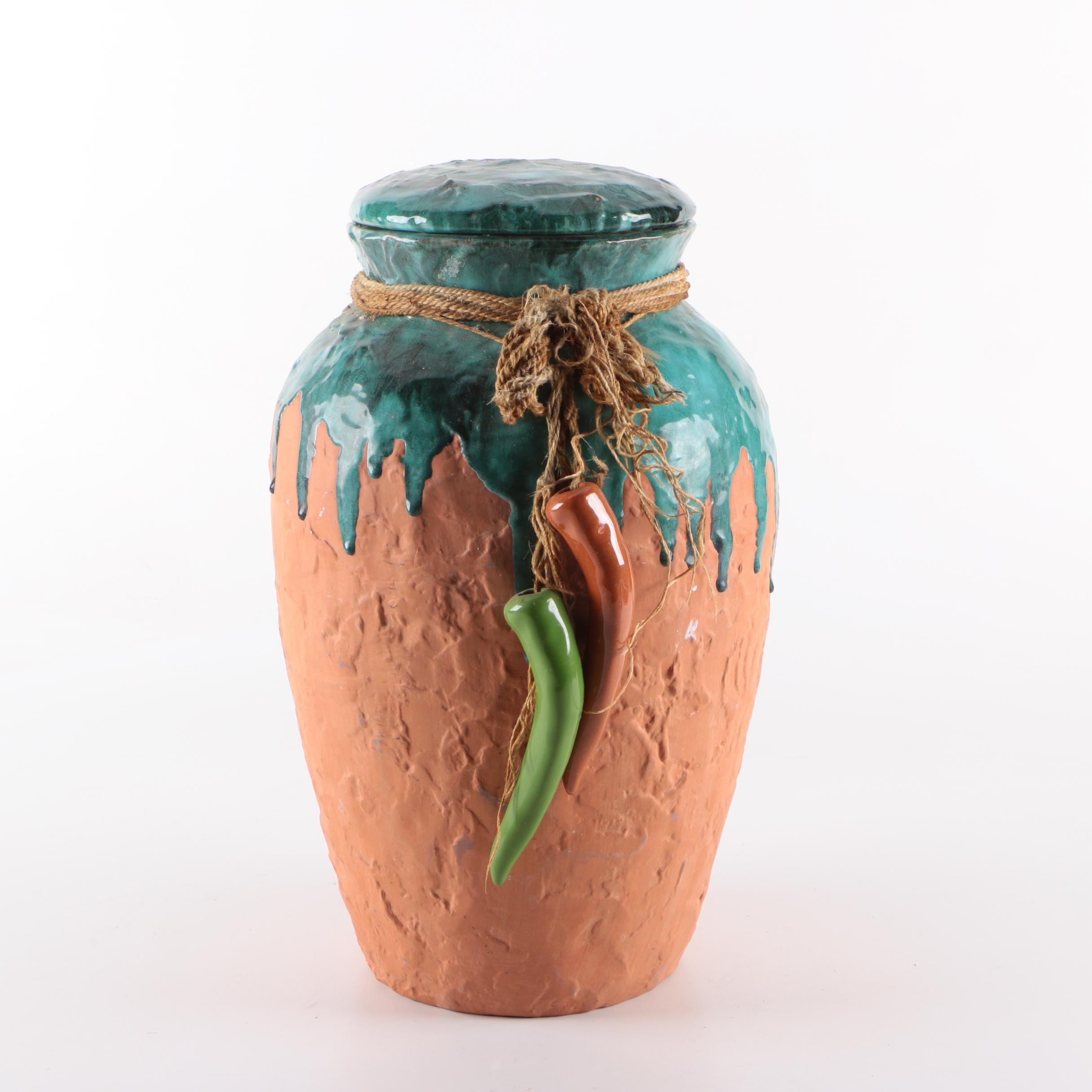 Chili Pepper Artisan Urn