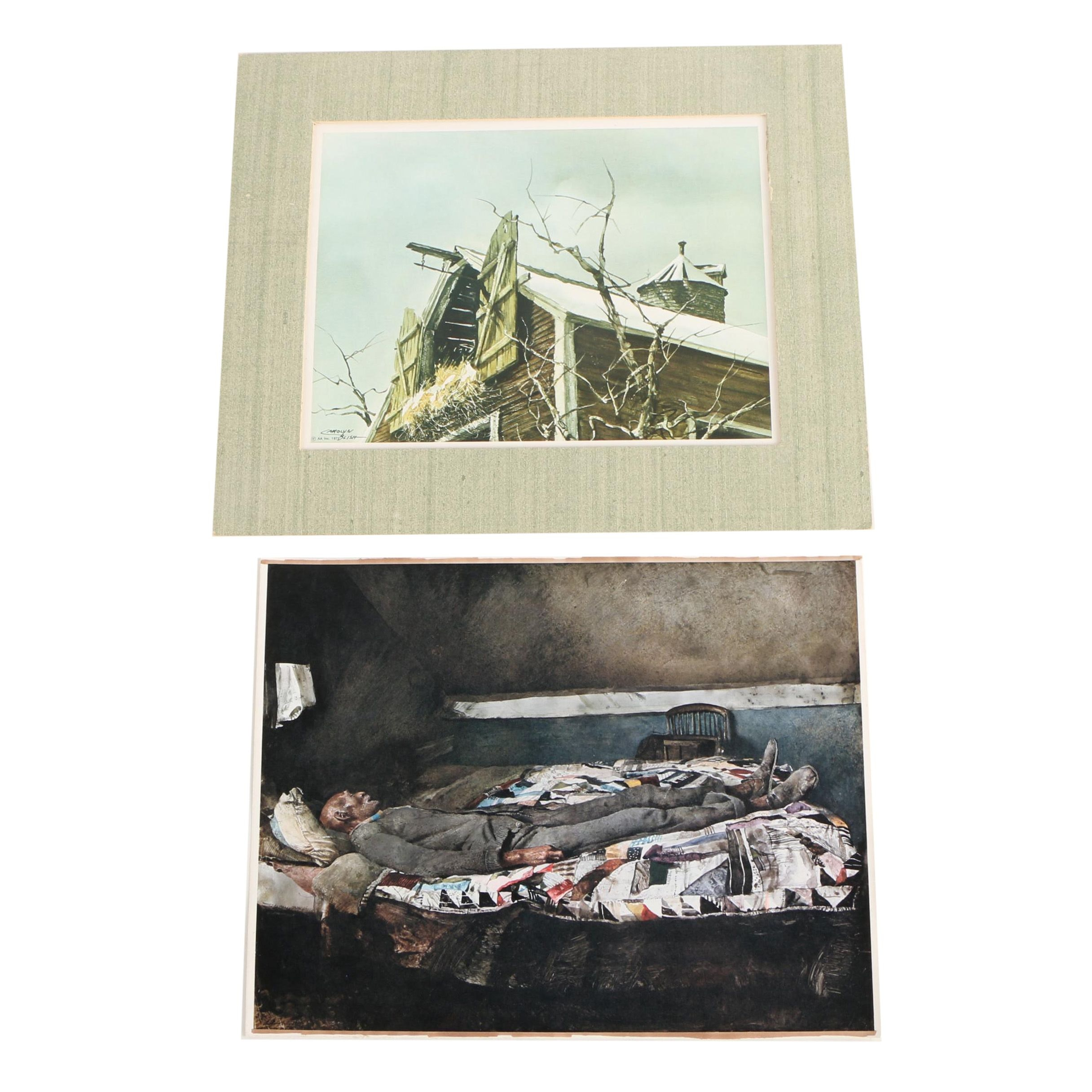 Rotogravure Prints After Andrew Wyeth and Carolyn Blish