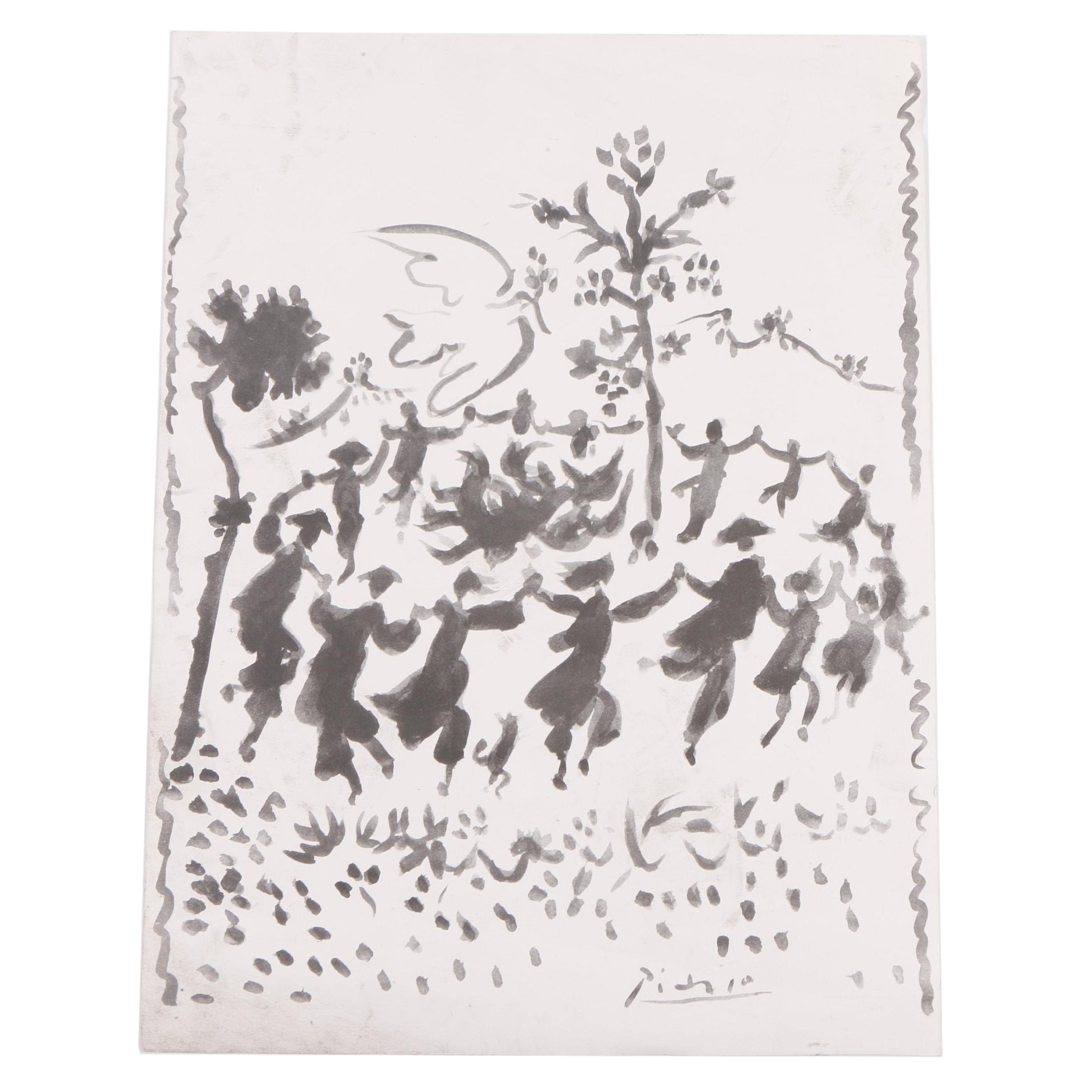"Offset Lithograph After Pablo Picasso ""Vive la Paix"""