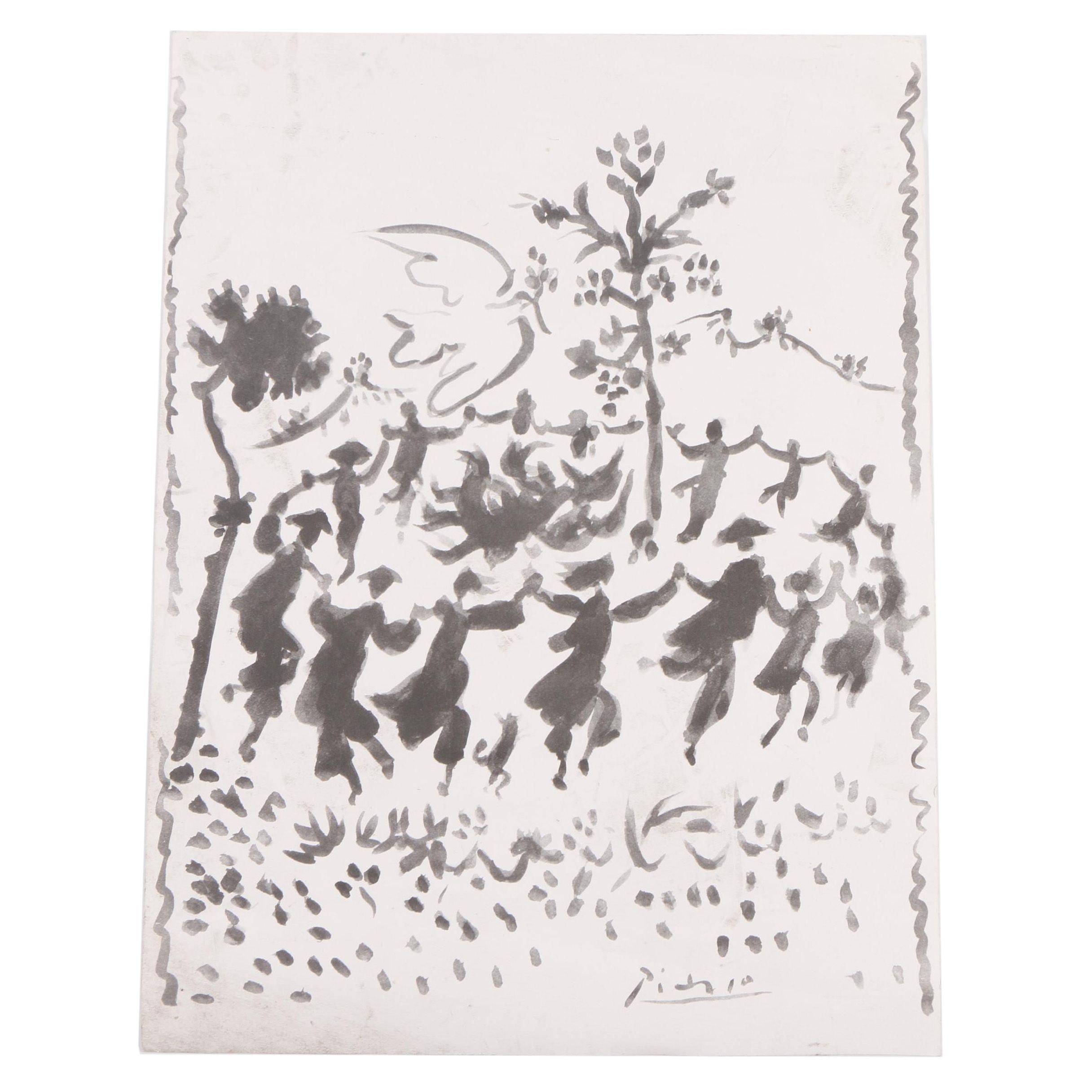 """Offset Lithograph After Pablo Picasso """"Vive la Paix"""""""