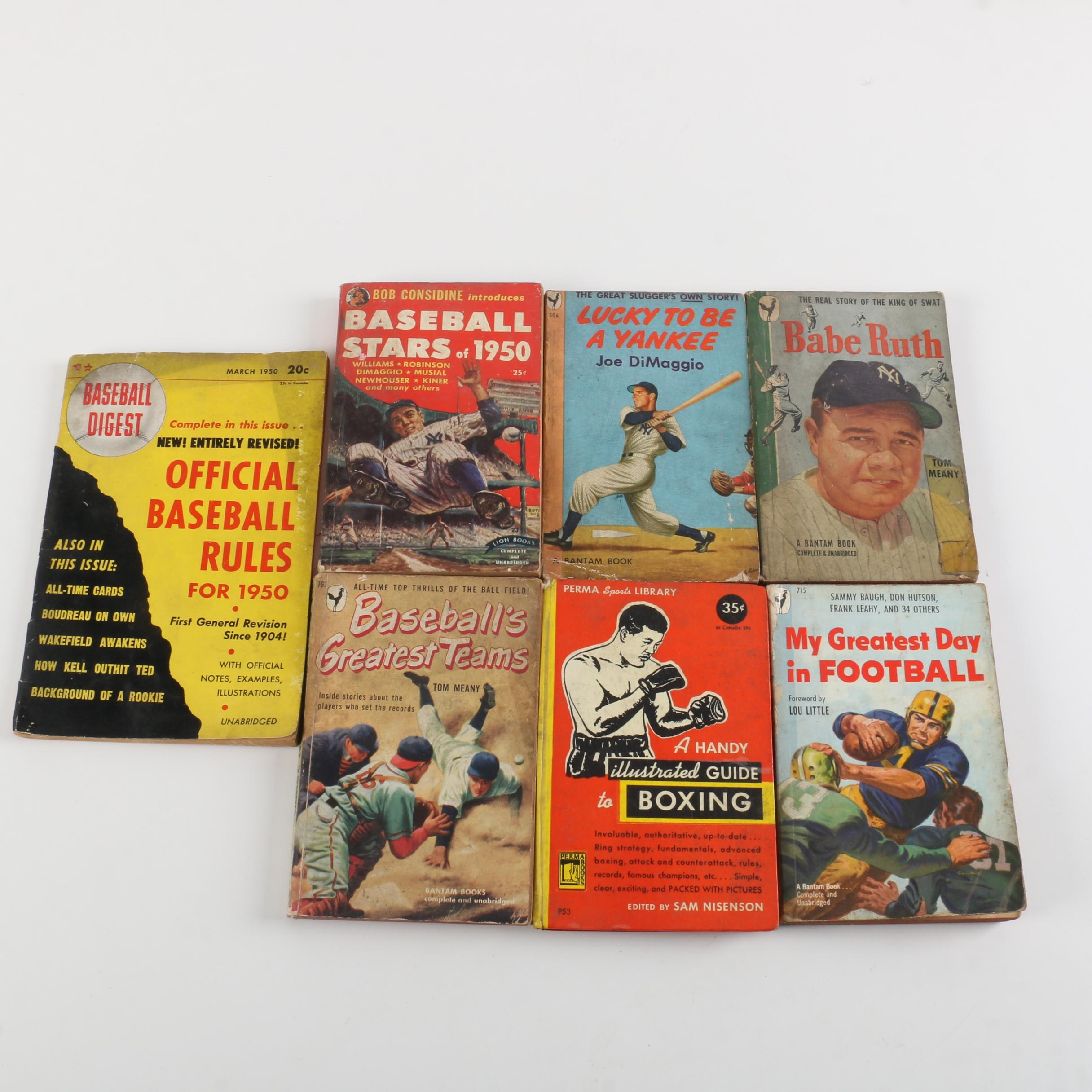 """Lucky to Be a Yankee"" by Joe DiMaggio and Other Vintage Sports Paperbacks"