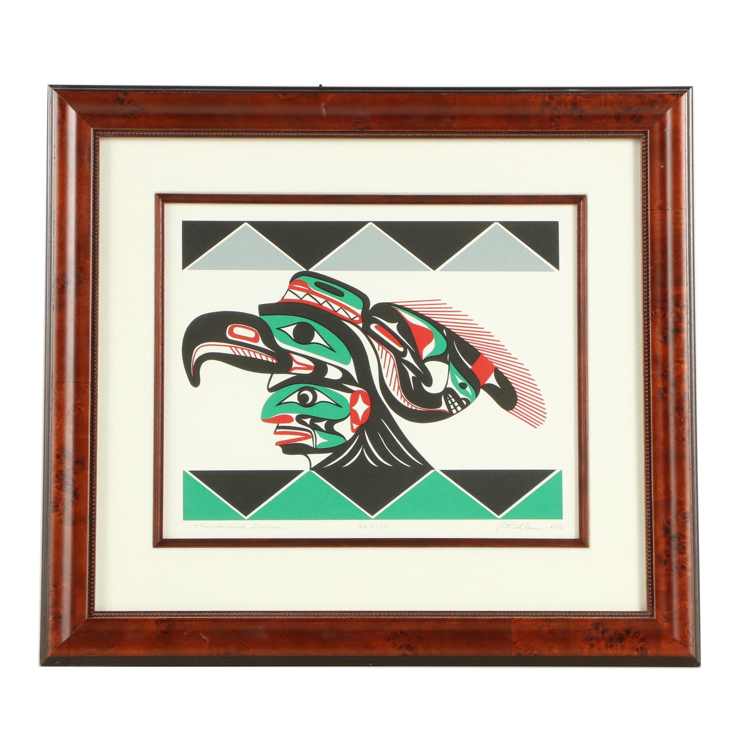 "Patrick Amos 1993 Serigraph ""Thunderbird Dancer"""