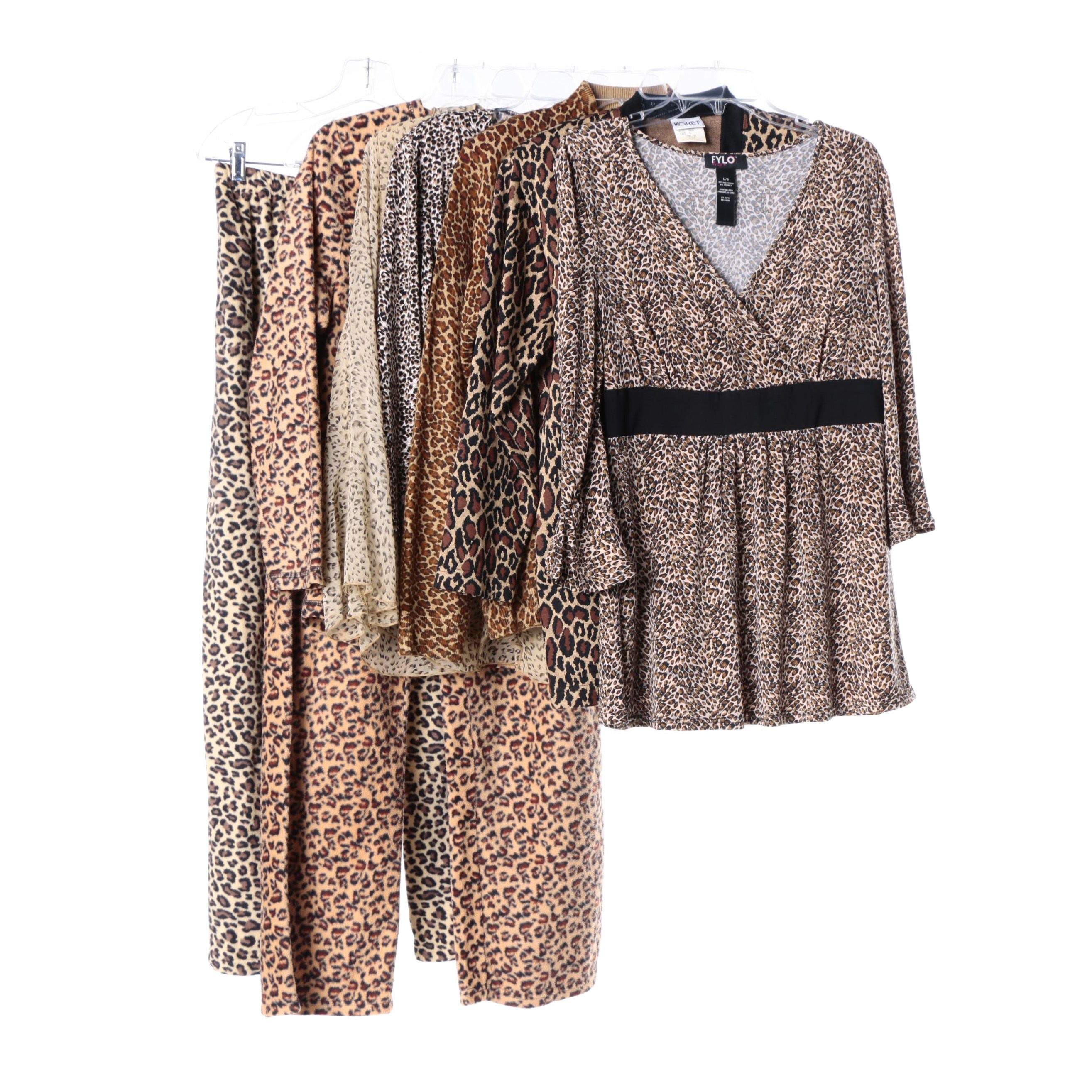 Women's Animal Print Separates Including Silk