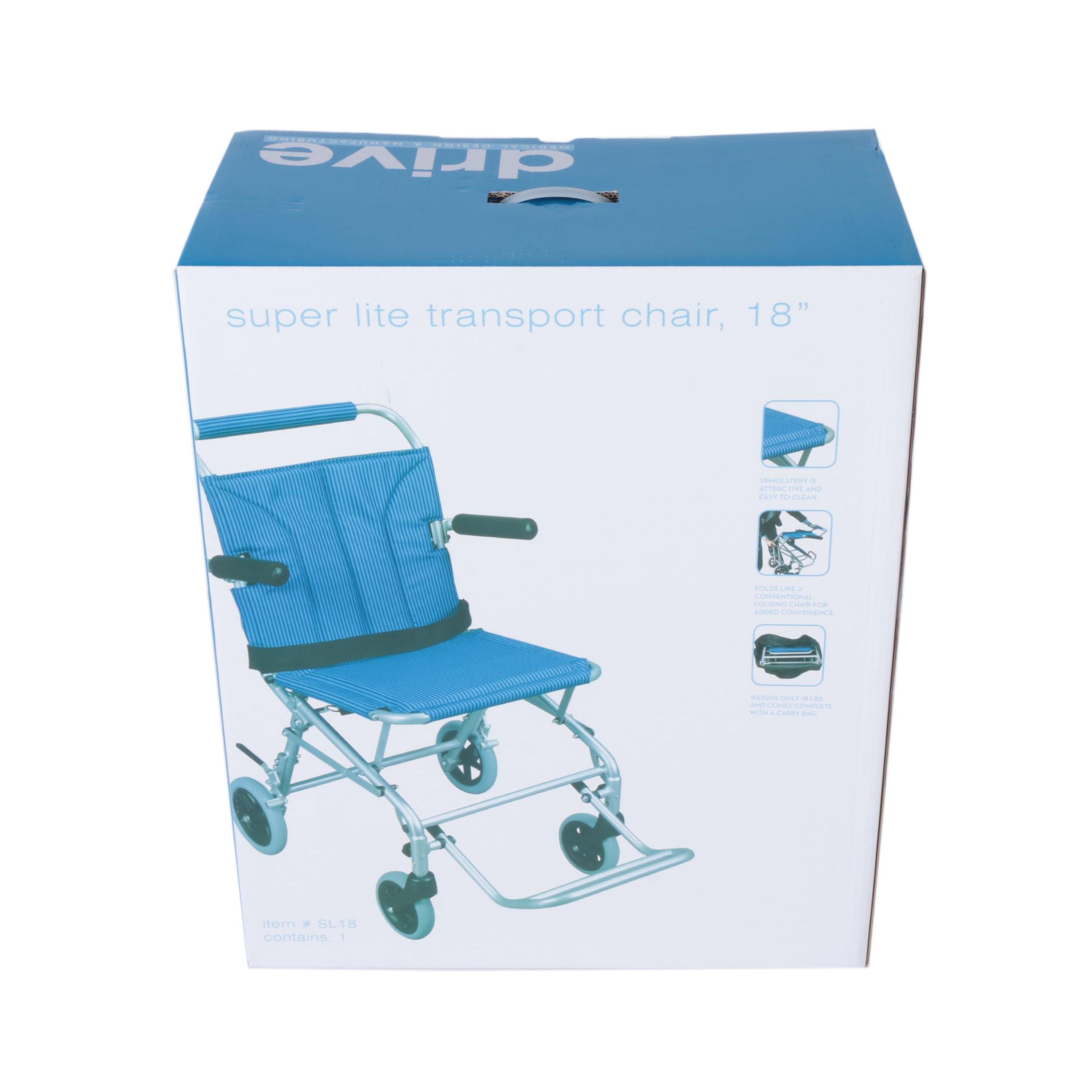 "Drive Medical Super Lite 18"" Transport Chair"