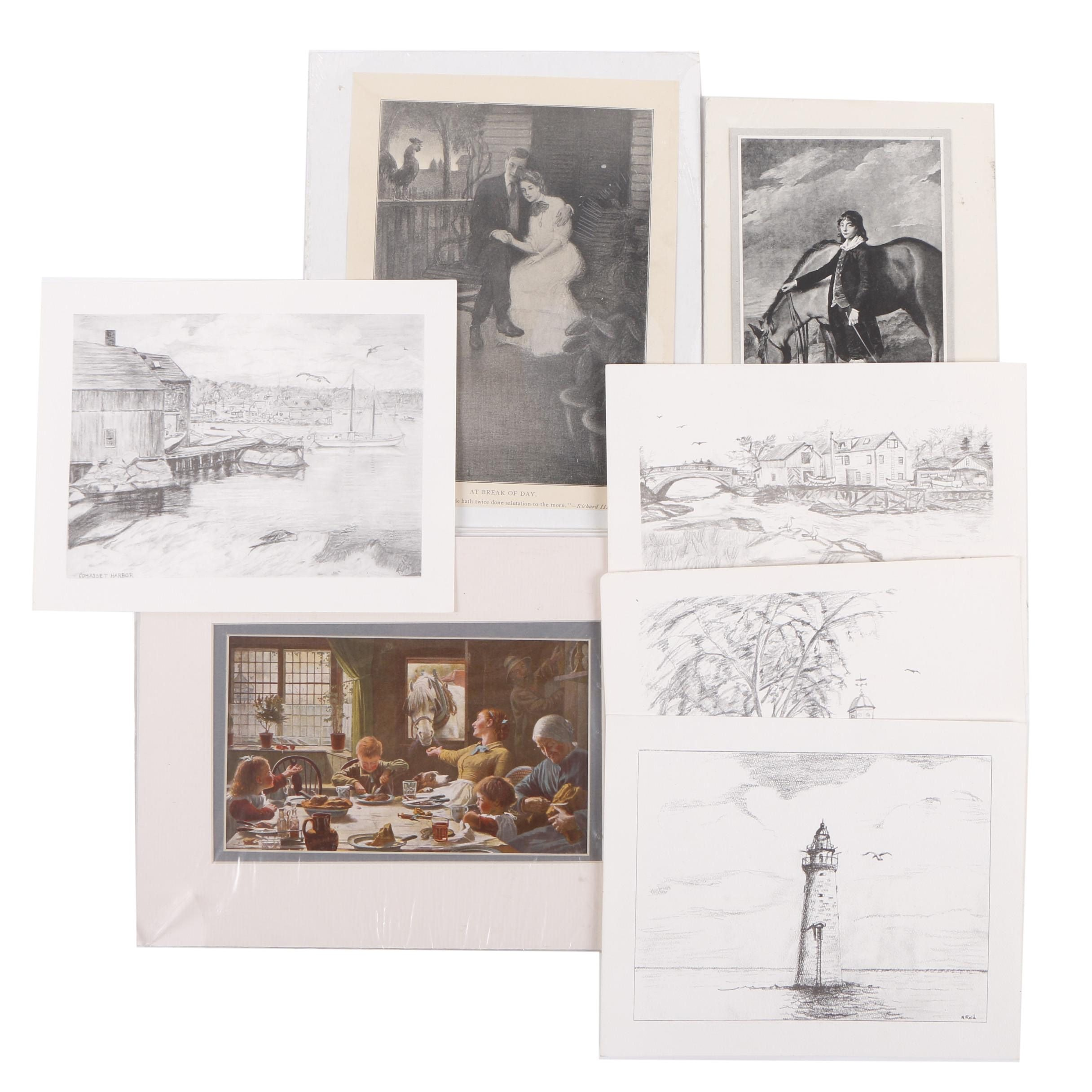Assorted Halftone Prints on Paper
