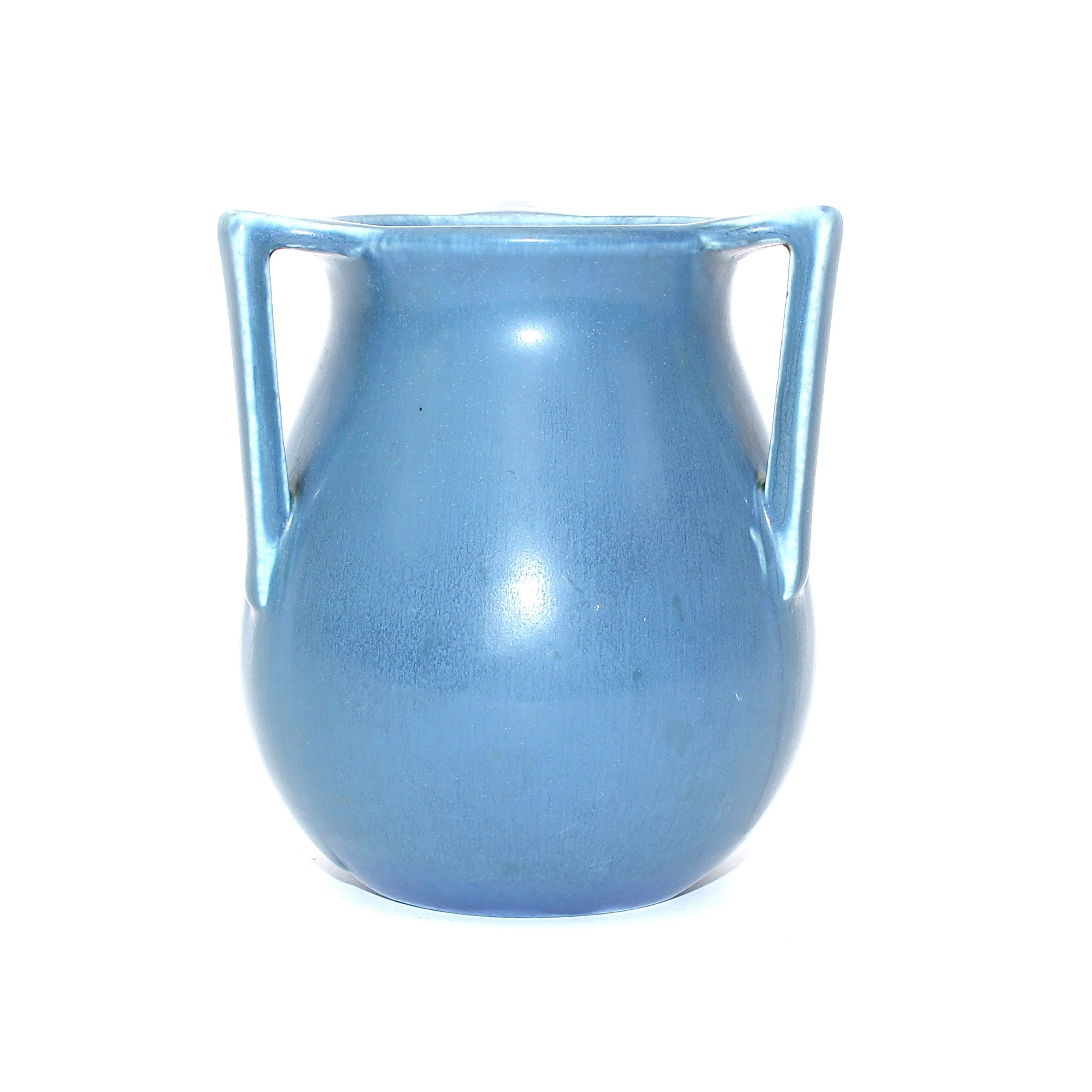 Rookwood Pottery Blue Ceramic Three Handled Vase
