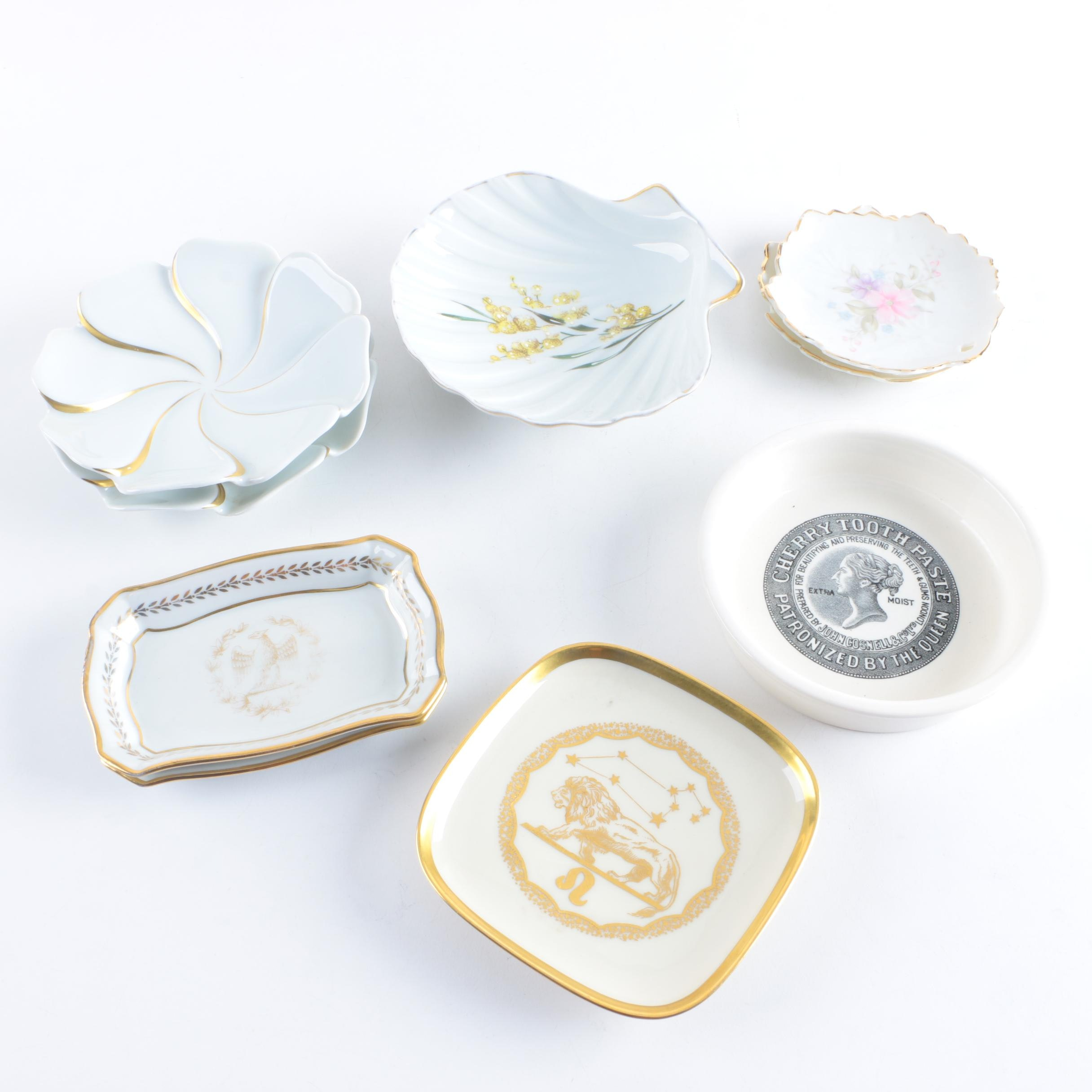 Small Ceramic and Porcelain Dishes featuring Limoges