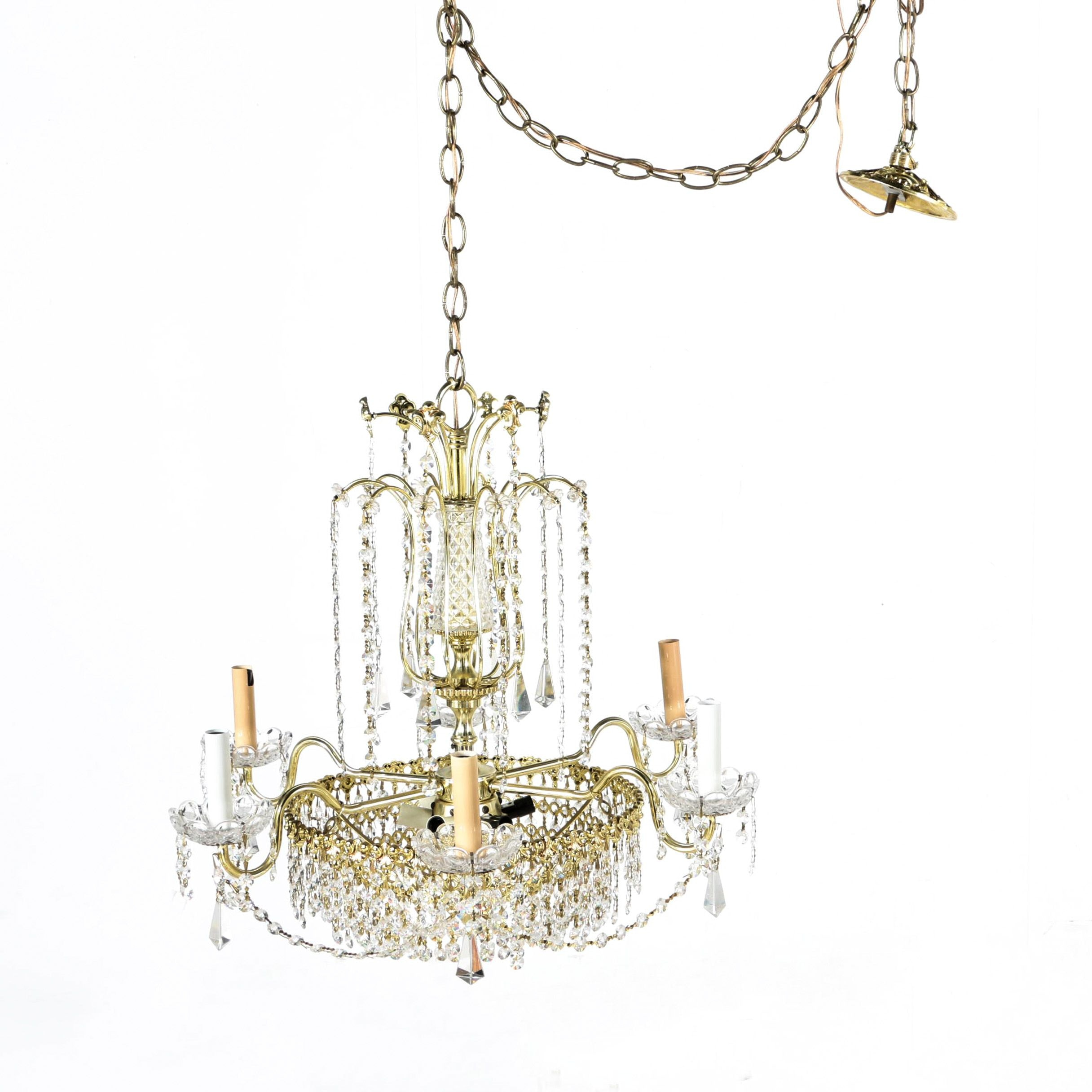 Crystal Chandelier with Parts