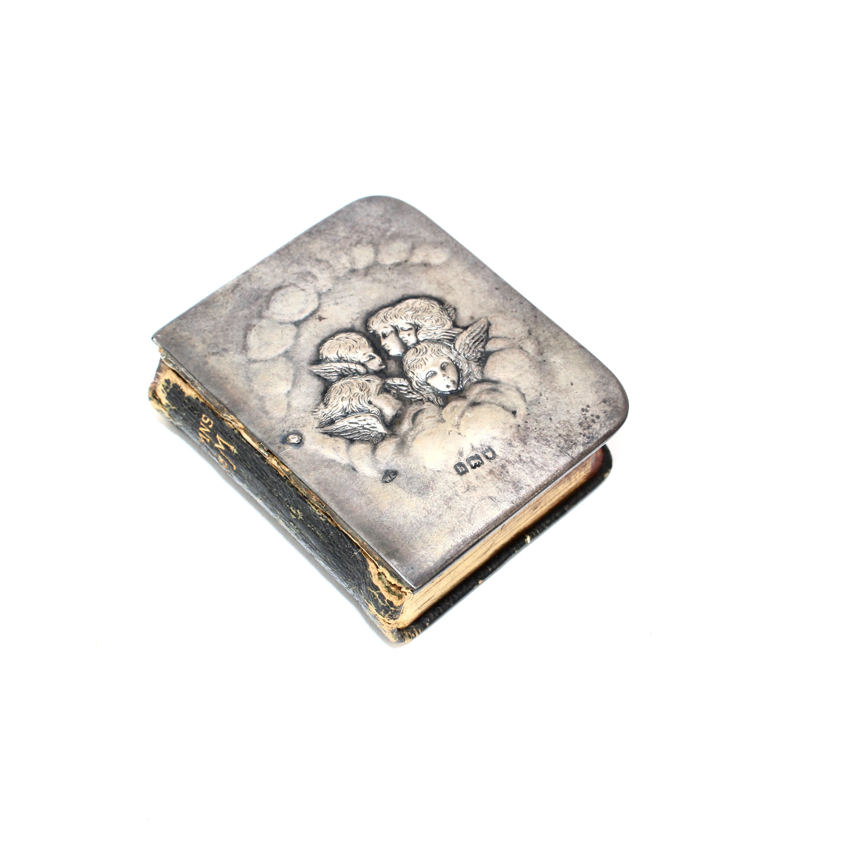Antique Sterling Silver Cherub Miniature Book of Hymns
