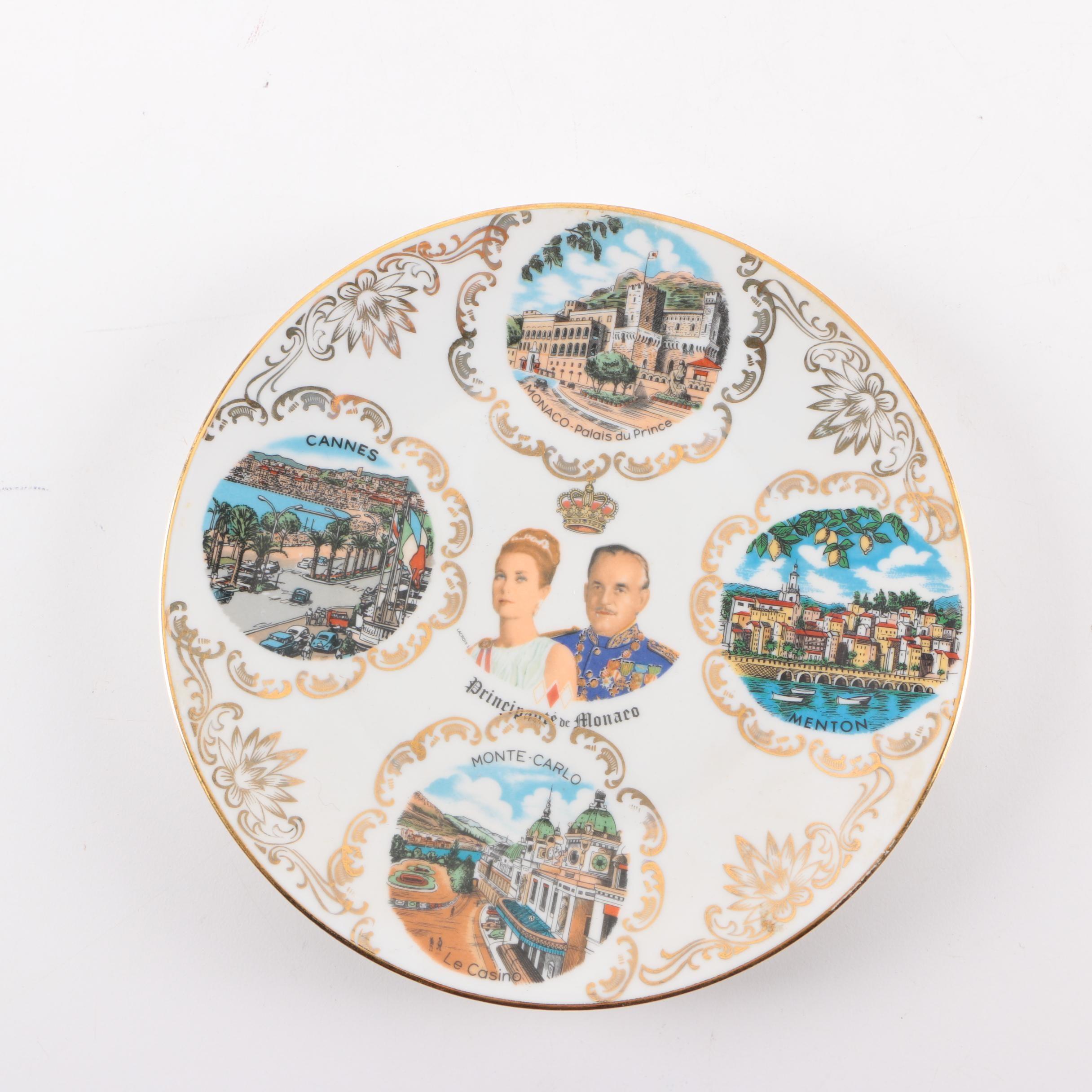 Vintage Monaco Commemorative Travel Plate