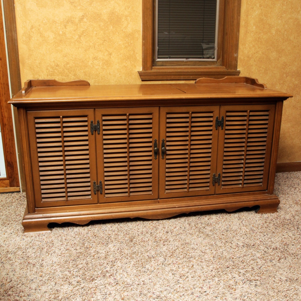 Vintage Sylvania 8-Track  Console Stereo with Garrard Turntable