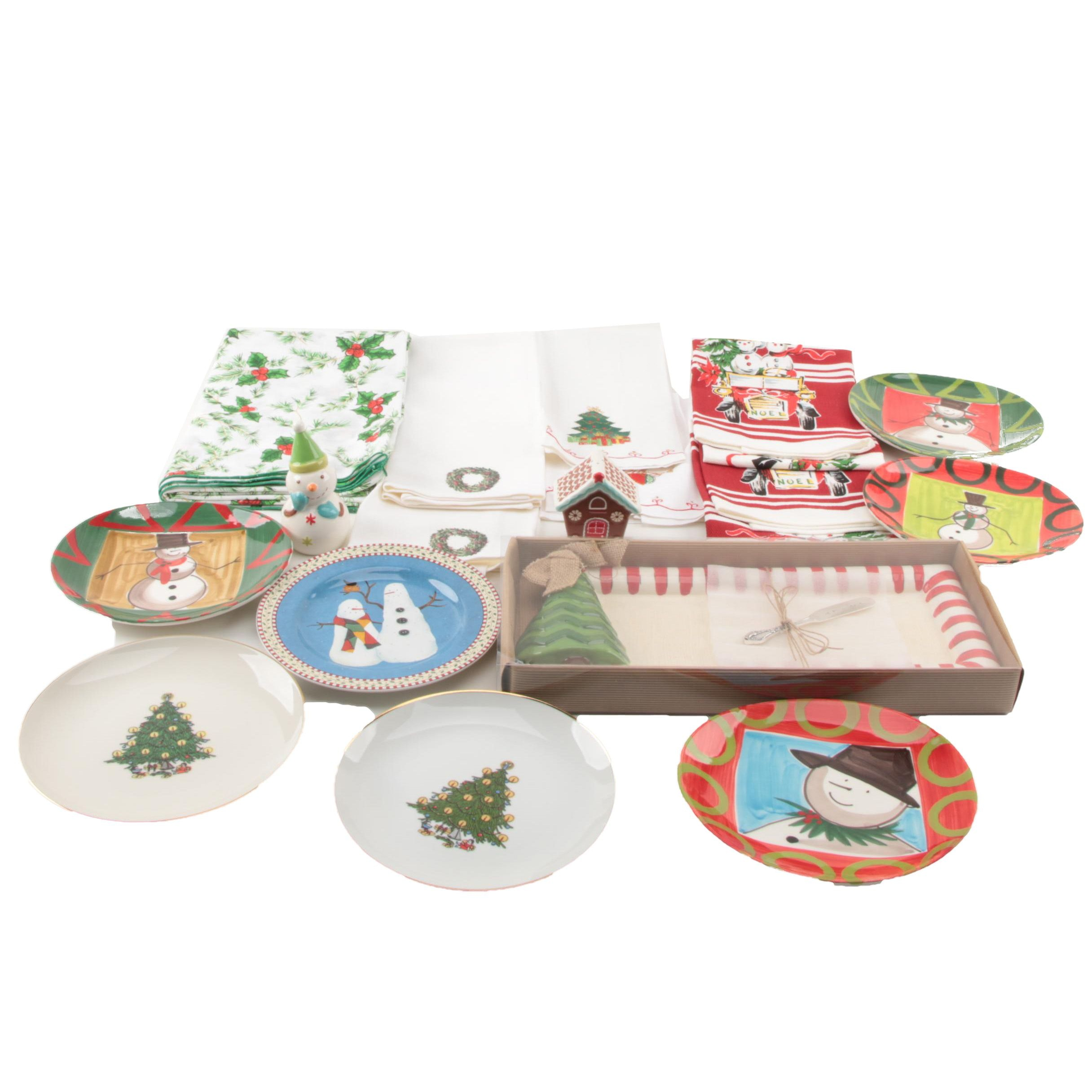 Winter and Christmas Themed Decor and Serveware