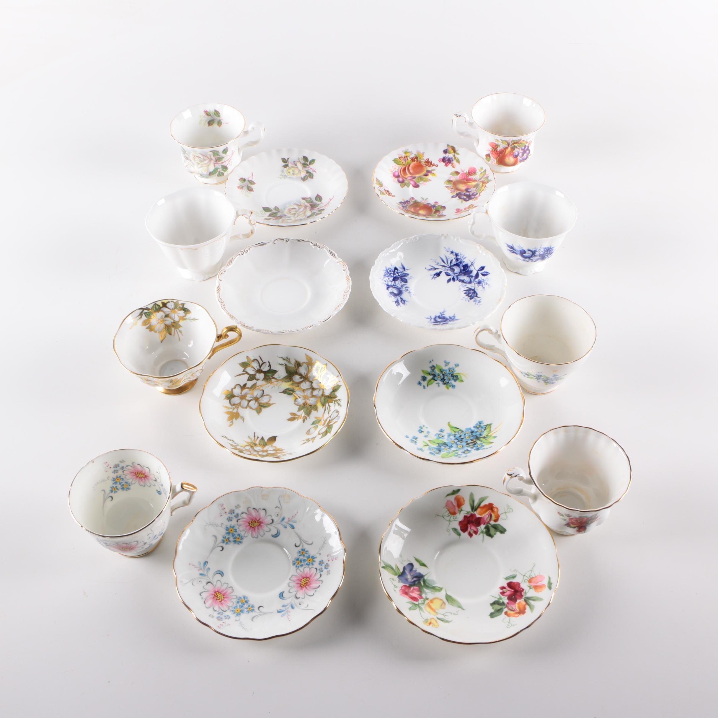 Teacups and Saucers Featuring Royal Albert