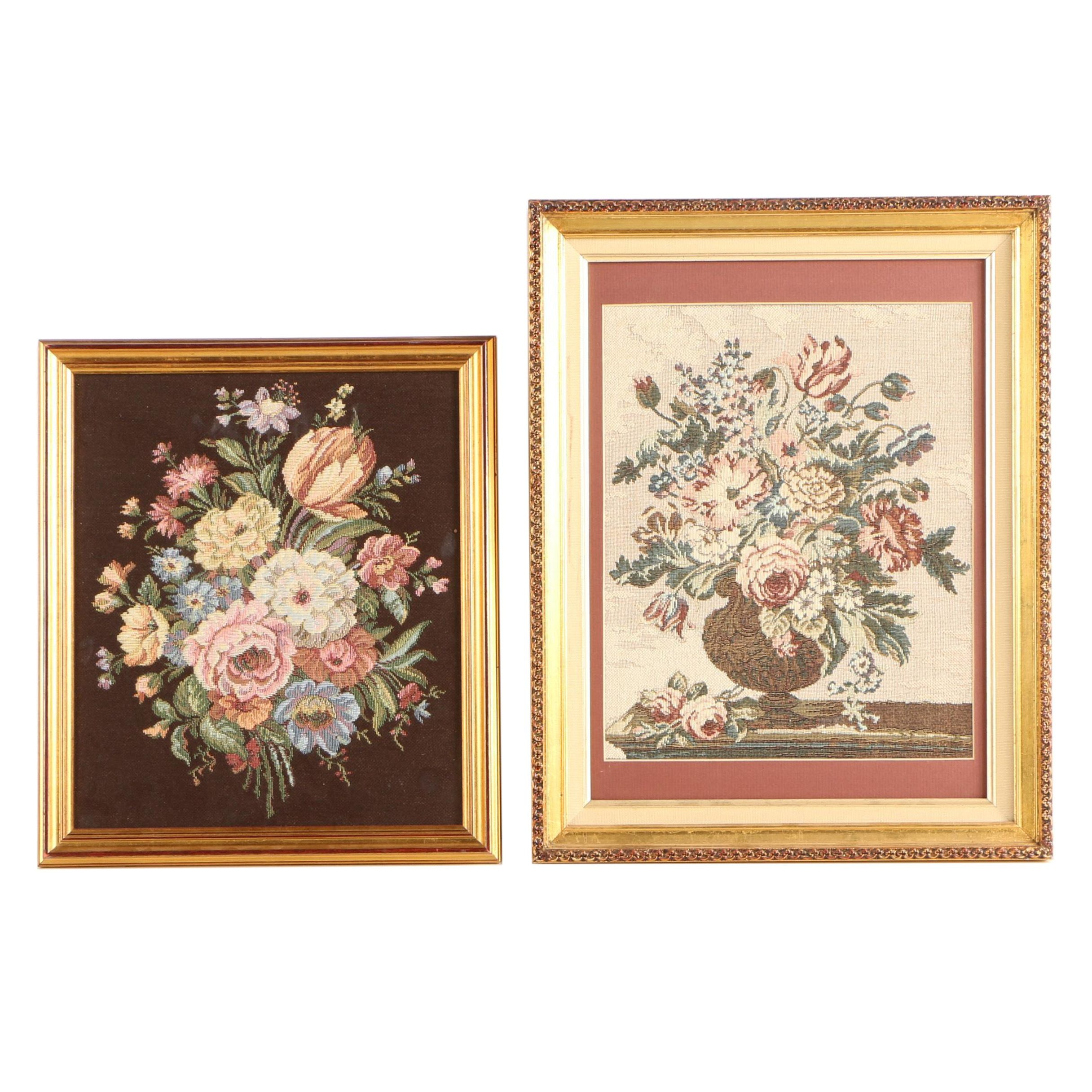 Cross Stitch Textiles of Floral Still Life Compositions