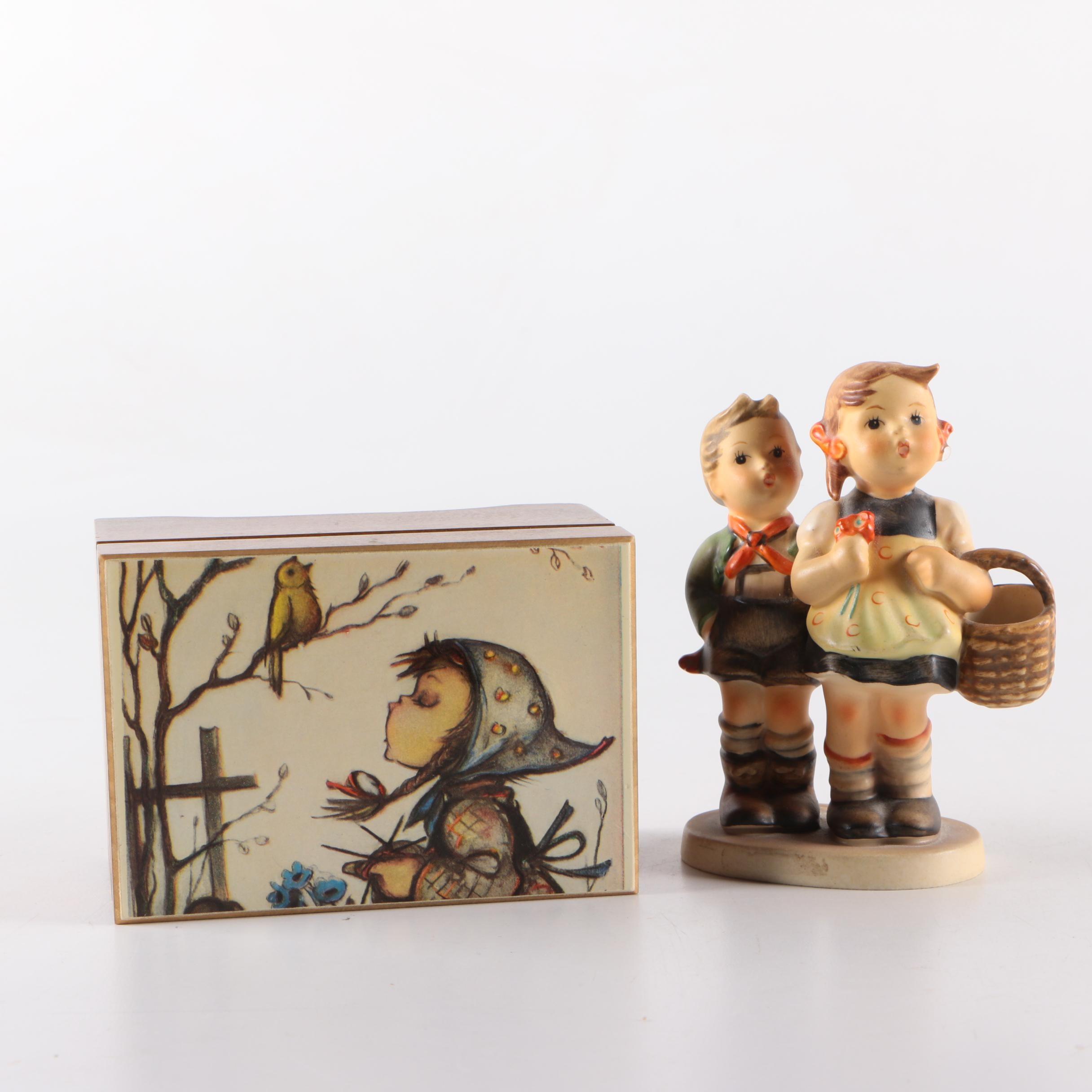 Music Box and Children Figurine
