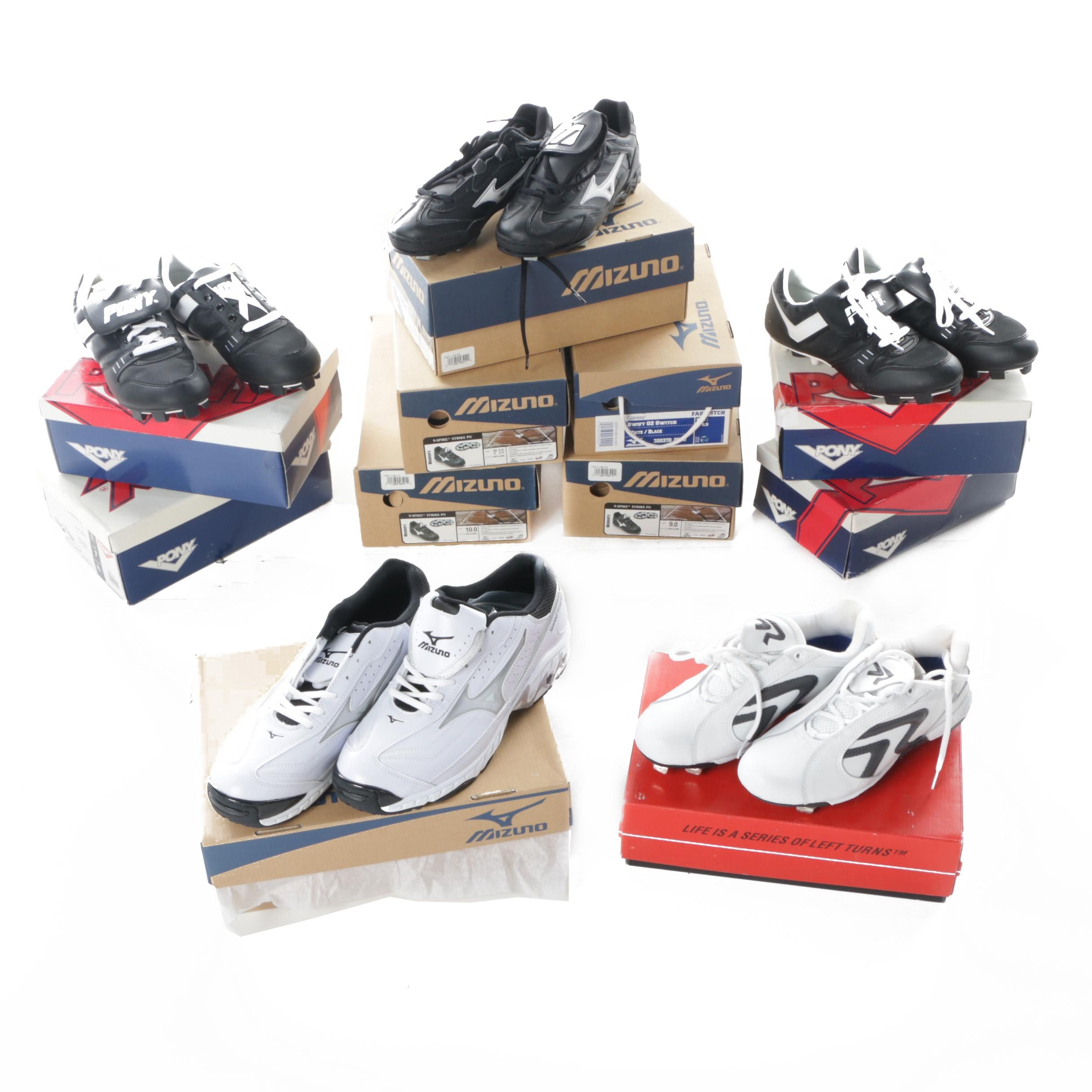 Cleats and Sneakers Including Pony