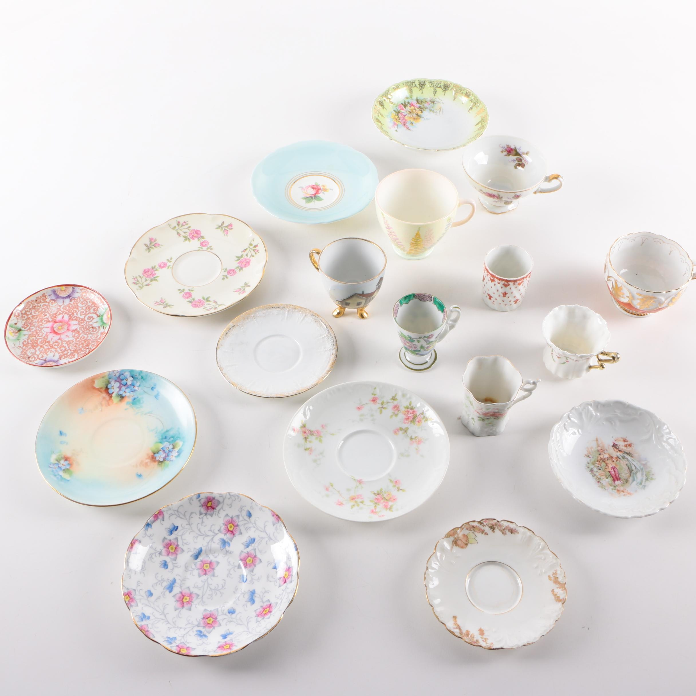 Cups and Saucers Featuring Haviland