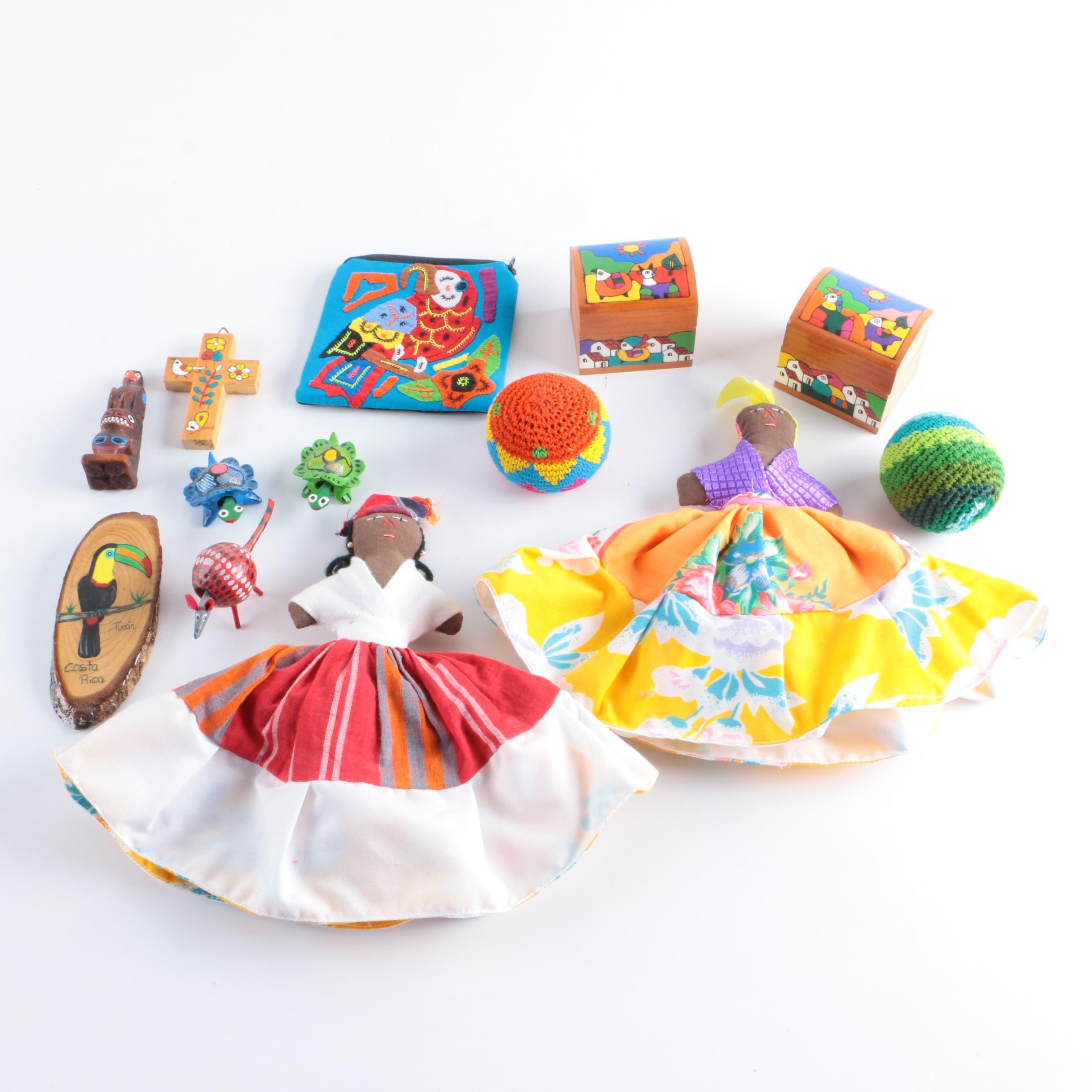 Handmade Cloth Dolls and Assorted Décor