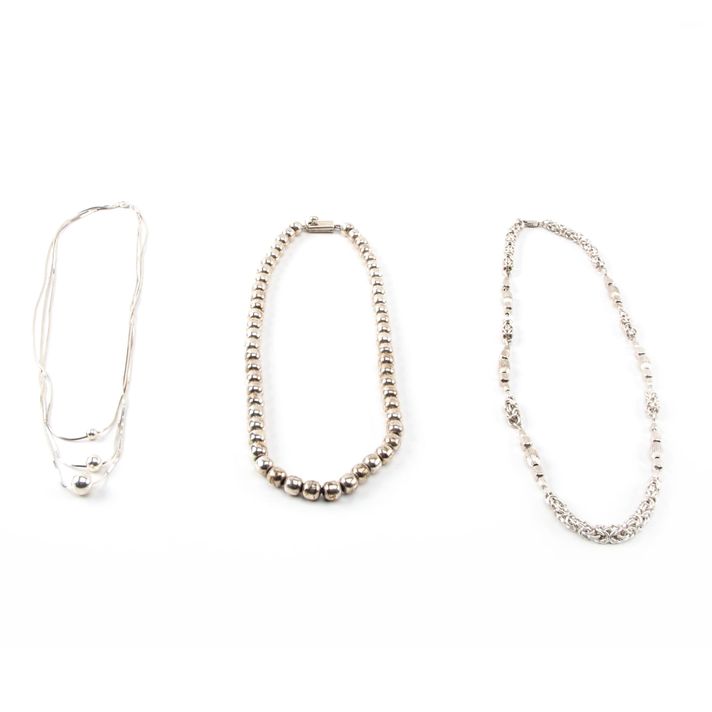 Sterling Silver Necklace Selection