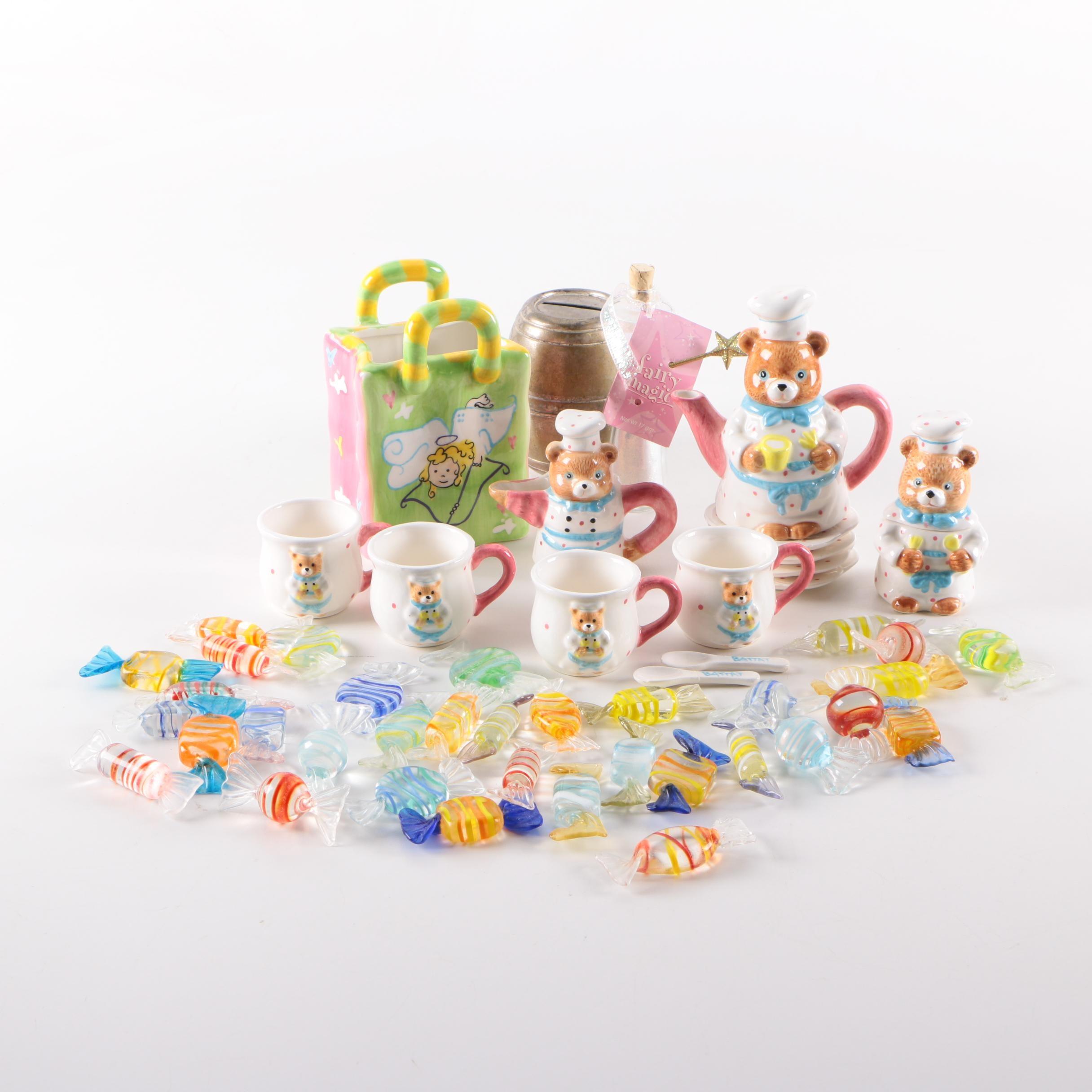 Miniature Tea Set and Decor