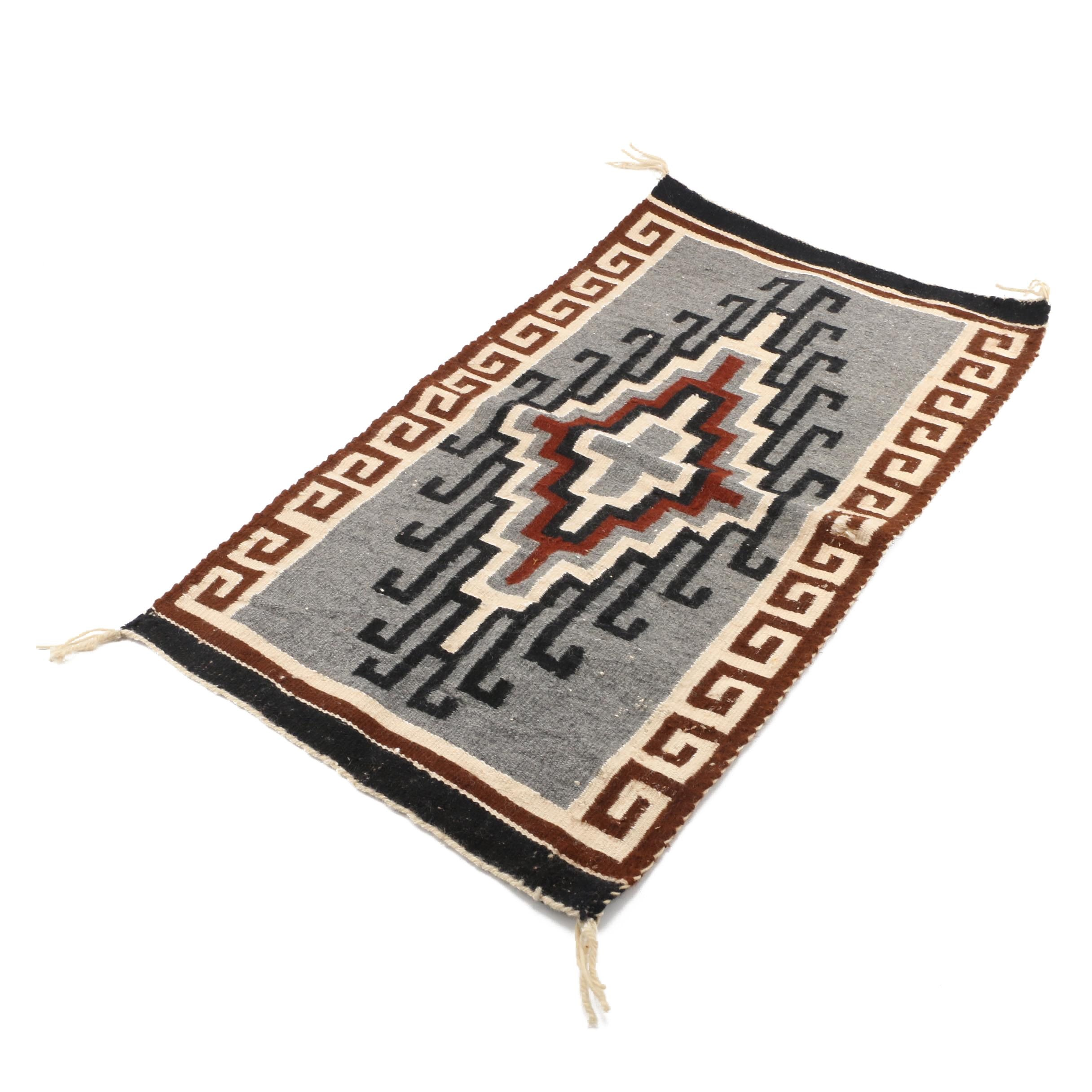 Vintage Handwoven Two Grey Hills Style Horse Blanket