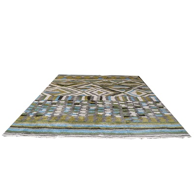 "Hand-Tufted ""Diamond"" Indian Wool Shag Area Rug by West Elm"