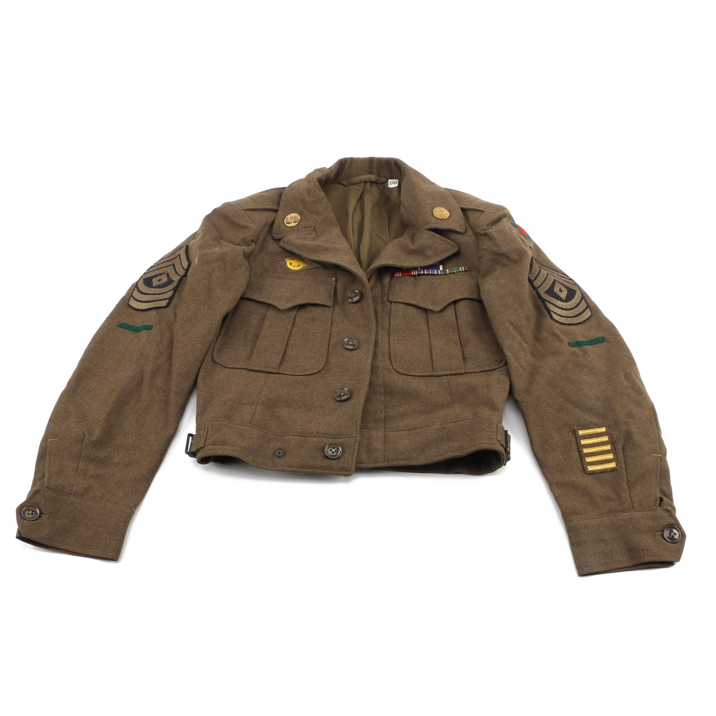 "Vintage WWII M44 Wool Field ""Eisenhower"" Jacket"