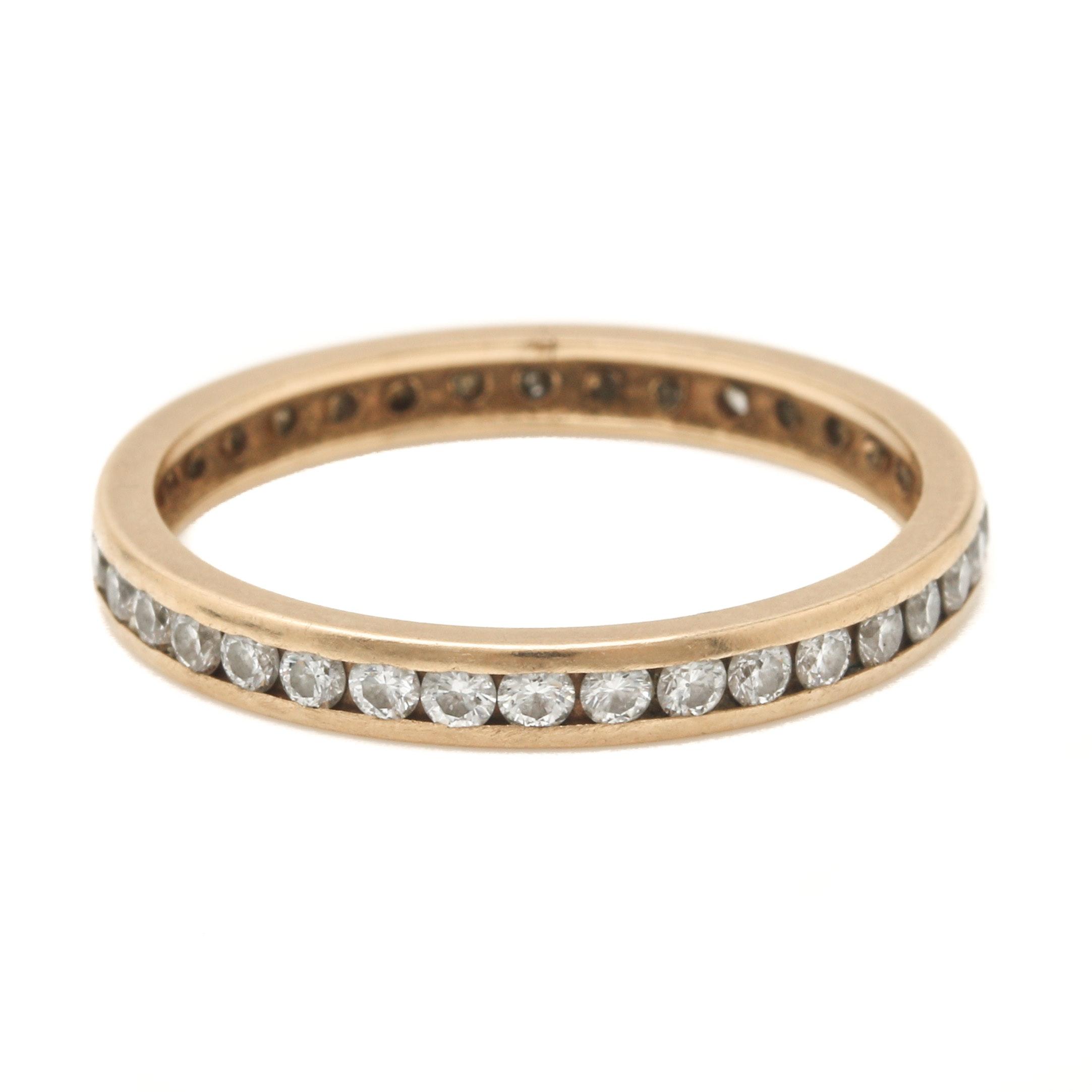 14K Yellow Gold Diamond Eternity Ring