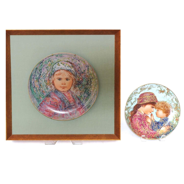 Edna Hibel Limited Edition Ceramic Plates