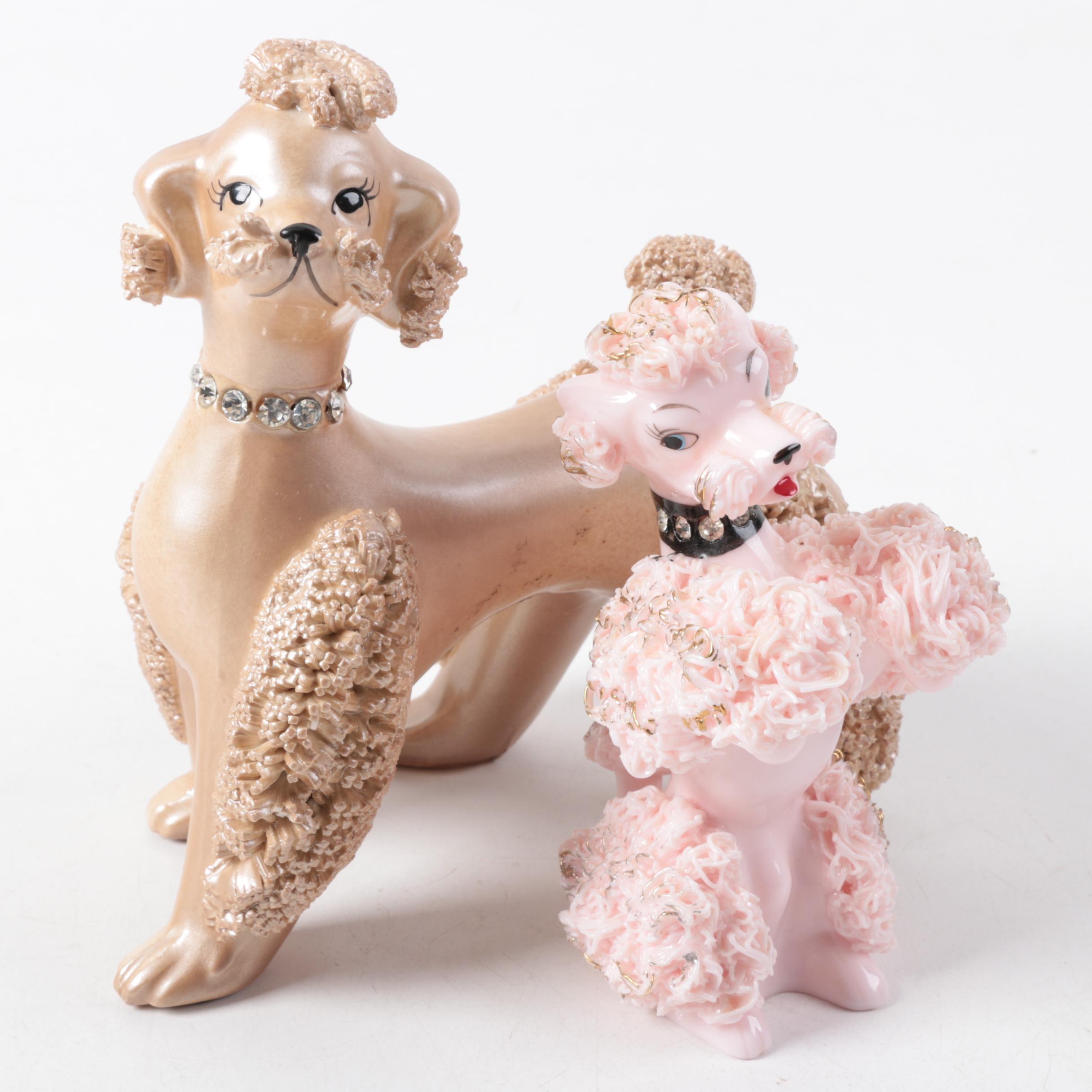 Vintage Brinn's Ceramic Poodle Figurines