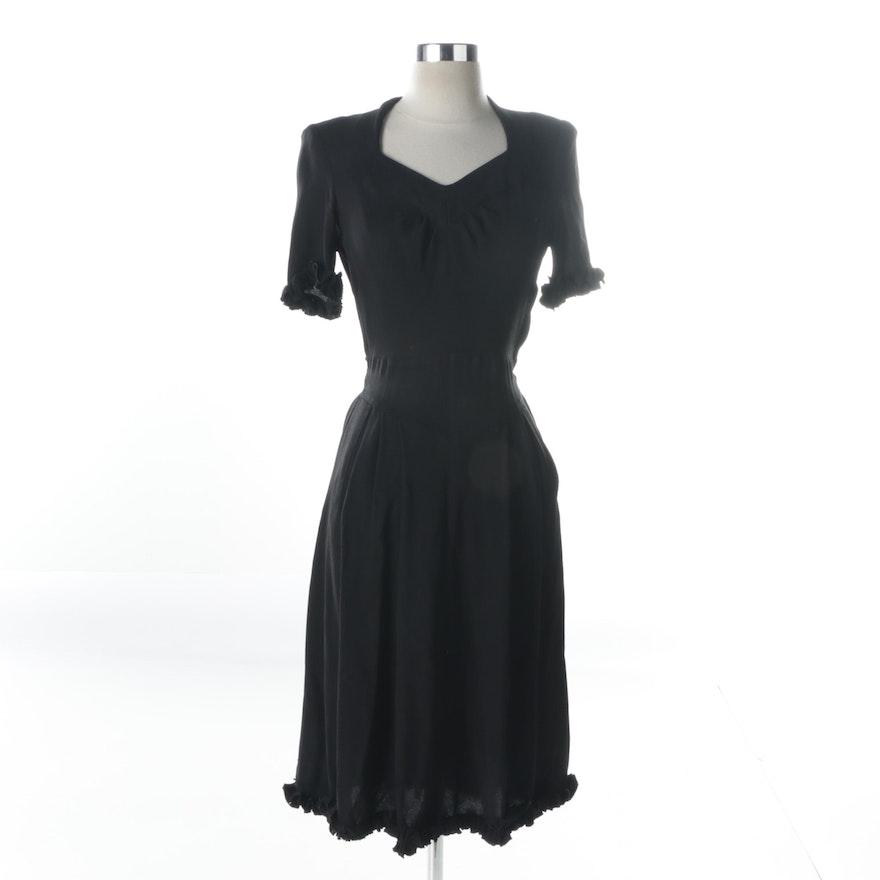 e9bd7aacc21 Vintage Black Crepe Dress   EBTH