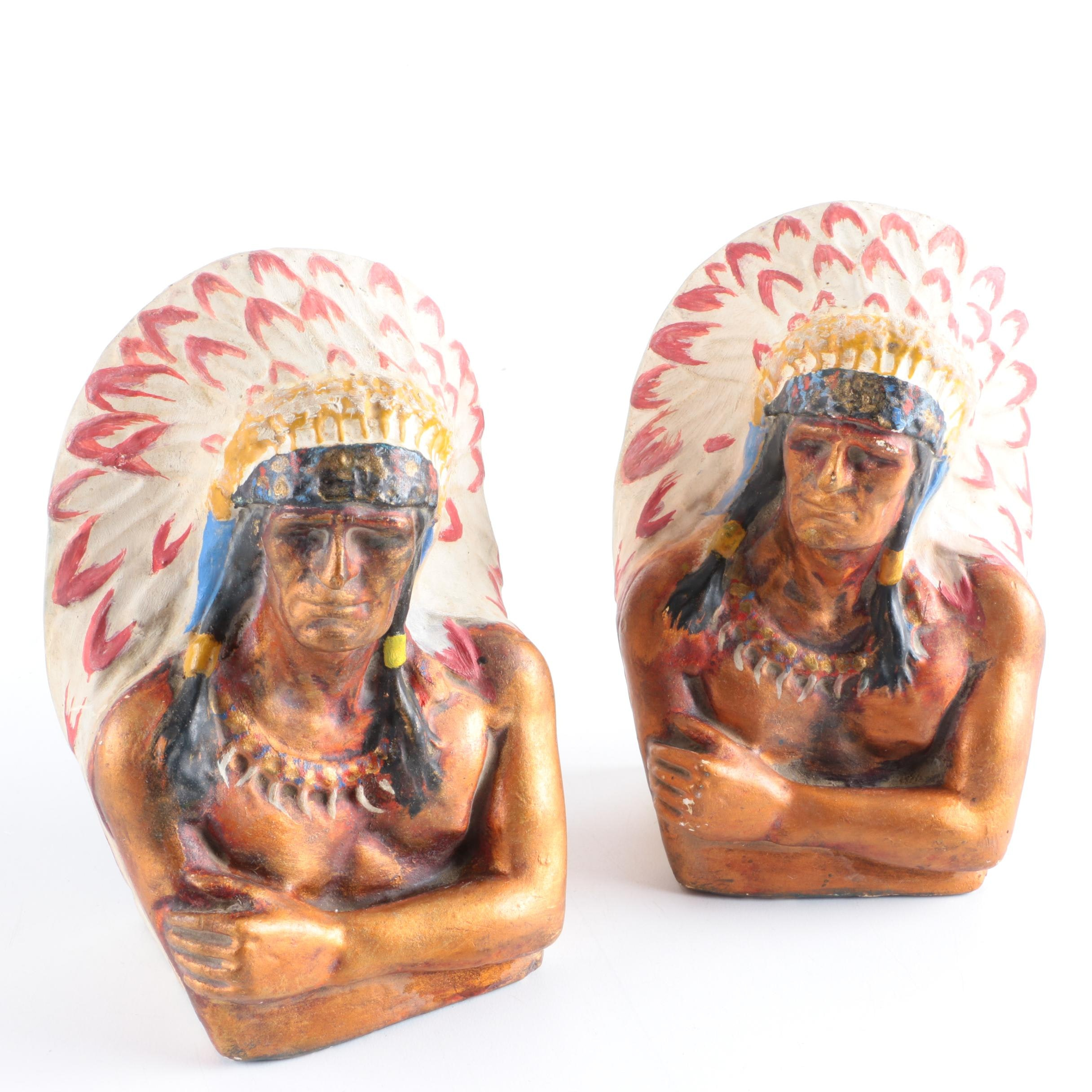 Vintage Native American Inspired Bookends