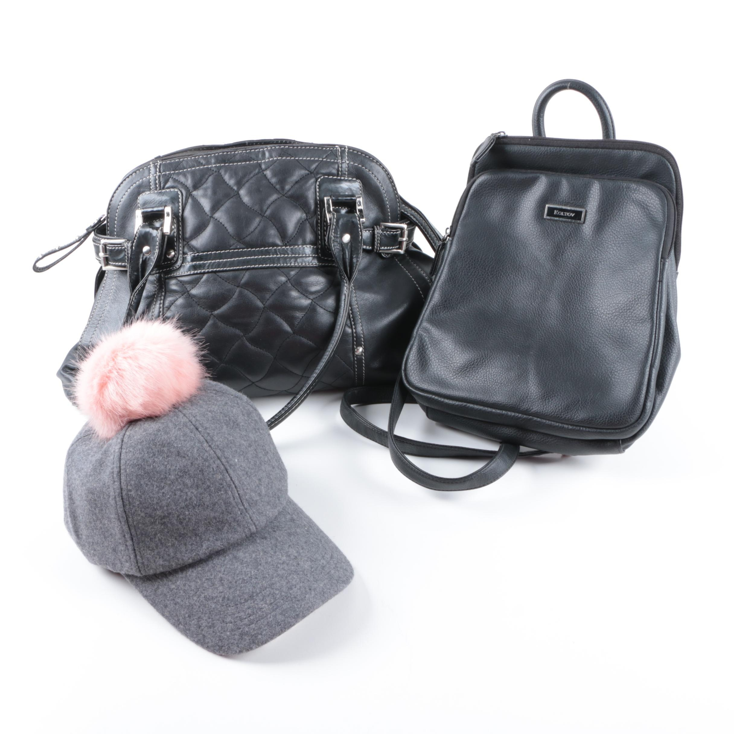 Two Handbags and Asos Hat