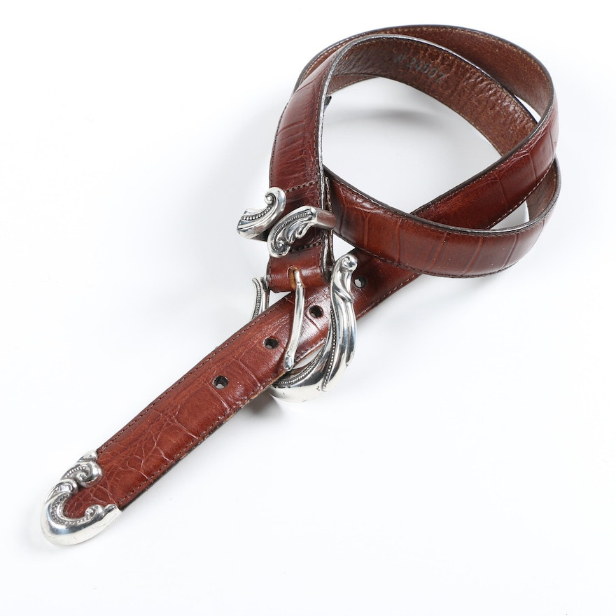 8e6d57bb536 Brighton Brown Leather Belt   EBTH