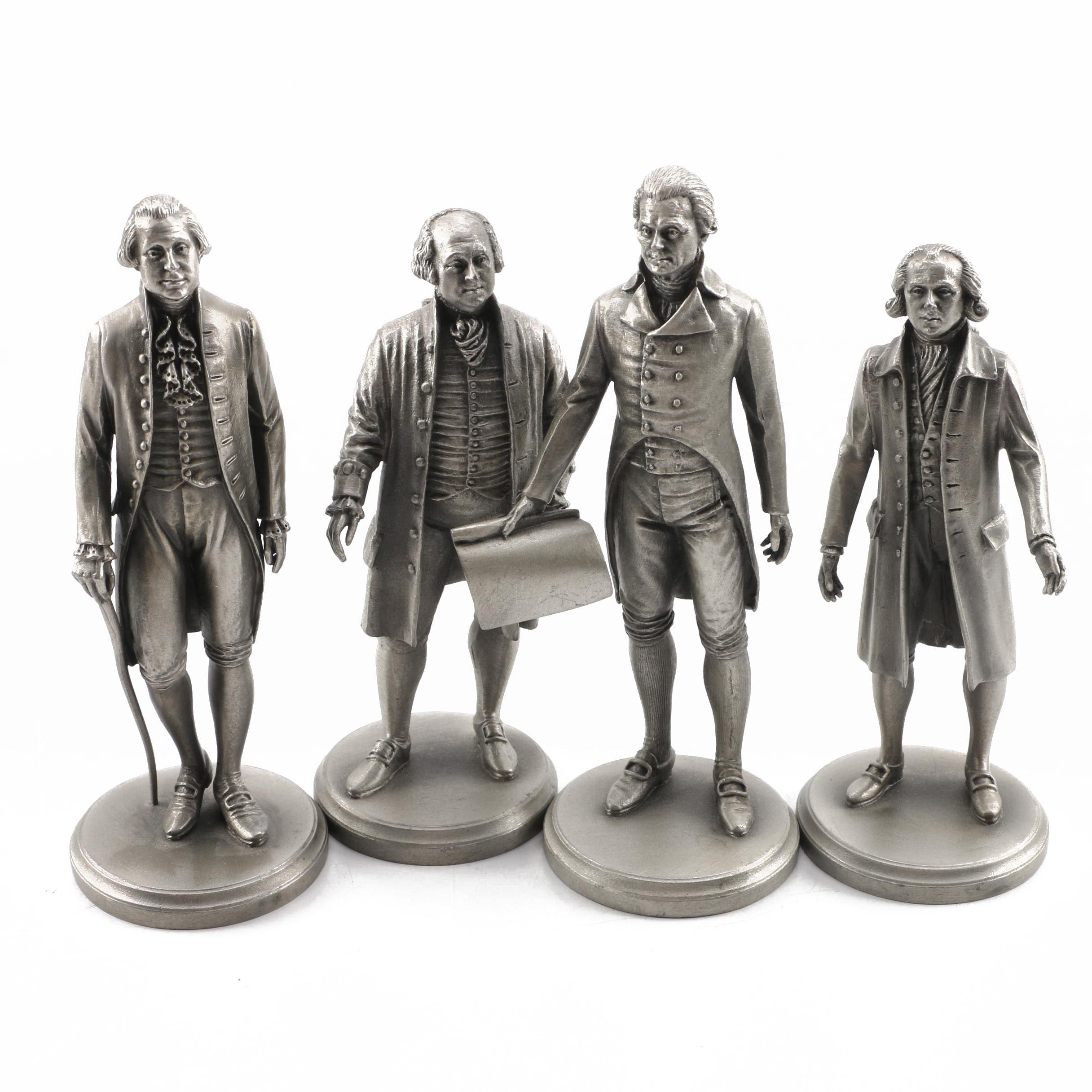 Lance Pewter President Figures including Washington, Adams, Jefferson, and Madis