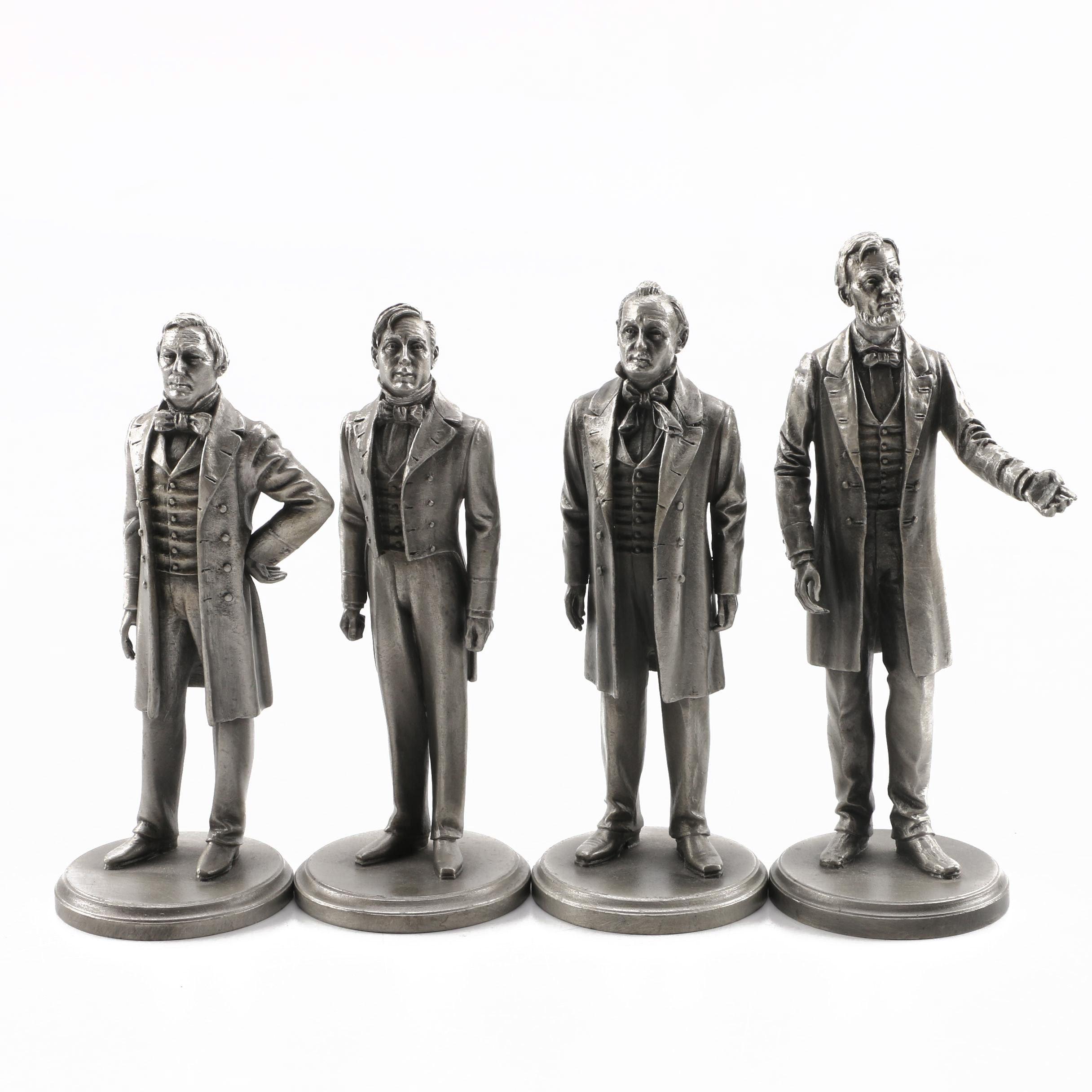 Lance Pewter President Figures Fillmore, Pierce, Buchanan, Lincoln