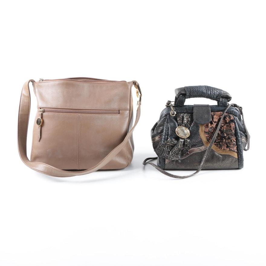 Leather Handbags Including Aurielle