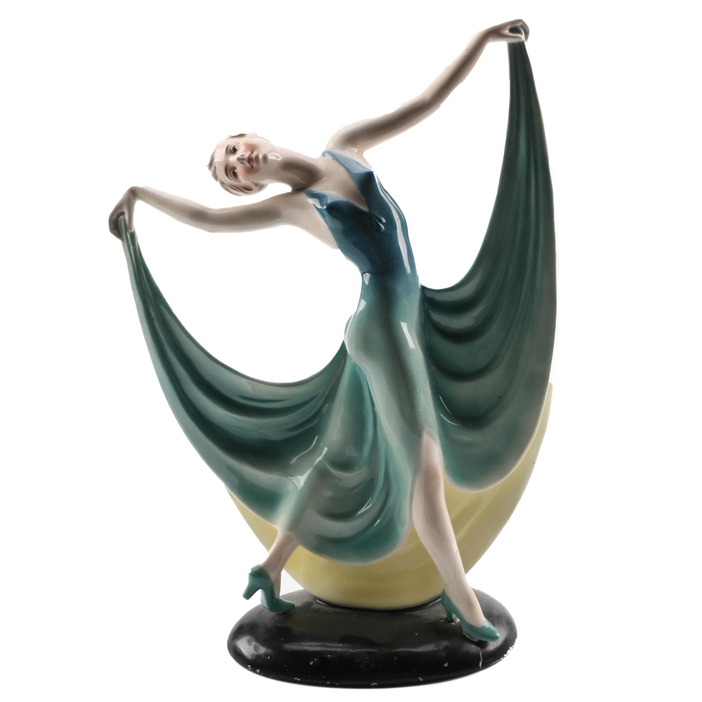 Hertwig & Co. Dancing Woman Figurine