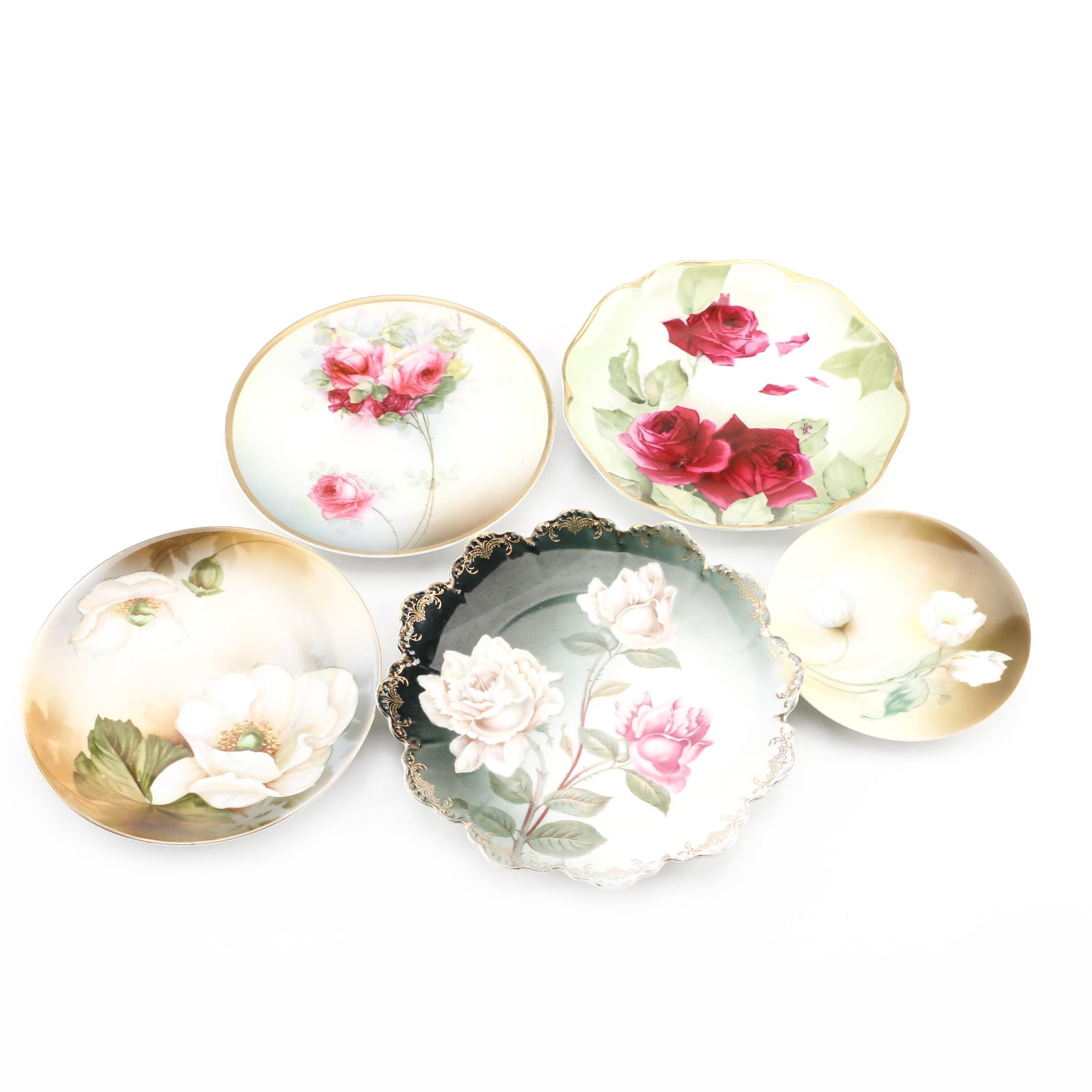 Antique Hand Painted Porcelain Plates Including Rosenthal