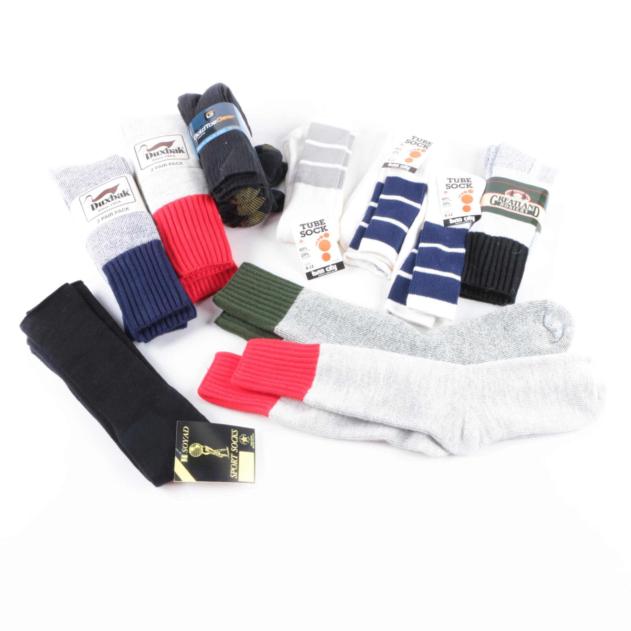 Sports Socks Including Gold Toe and Duxbak