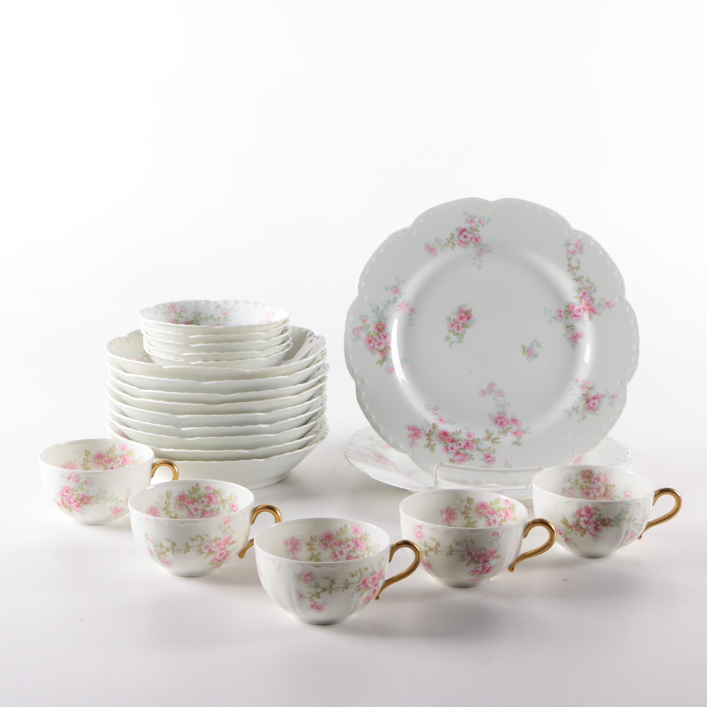 Circa 1910s Haviland & Co. Limoges Porcelain Tableware