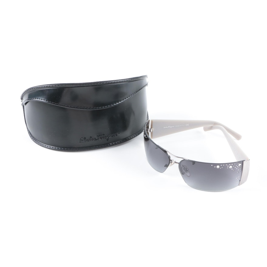 2628910b0f6 Salvatore Ferragamo Rhinestone Accented Sunglasses   EBTH