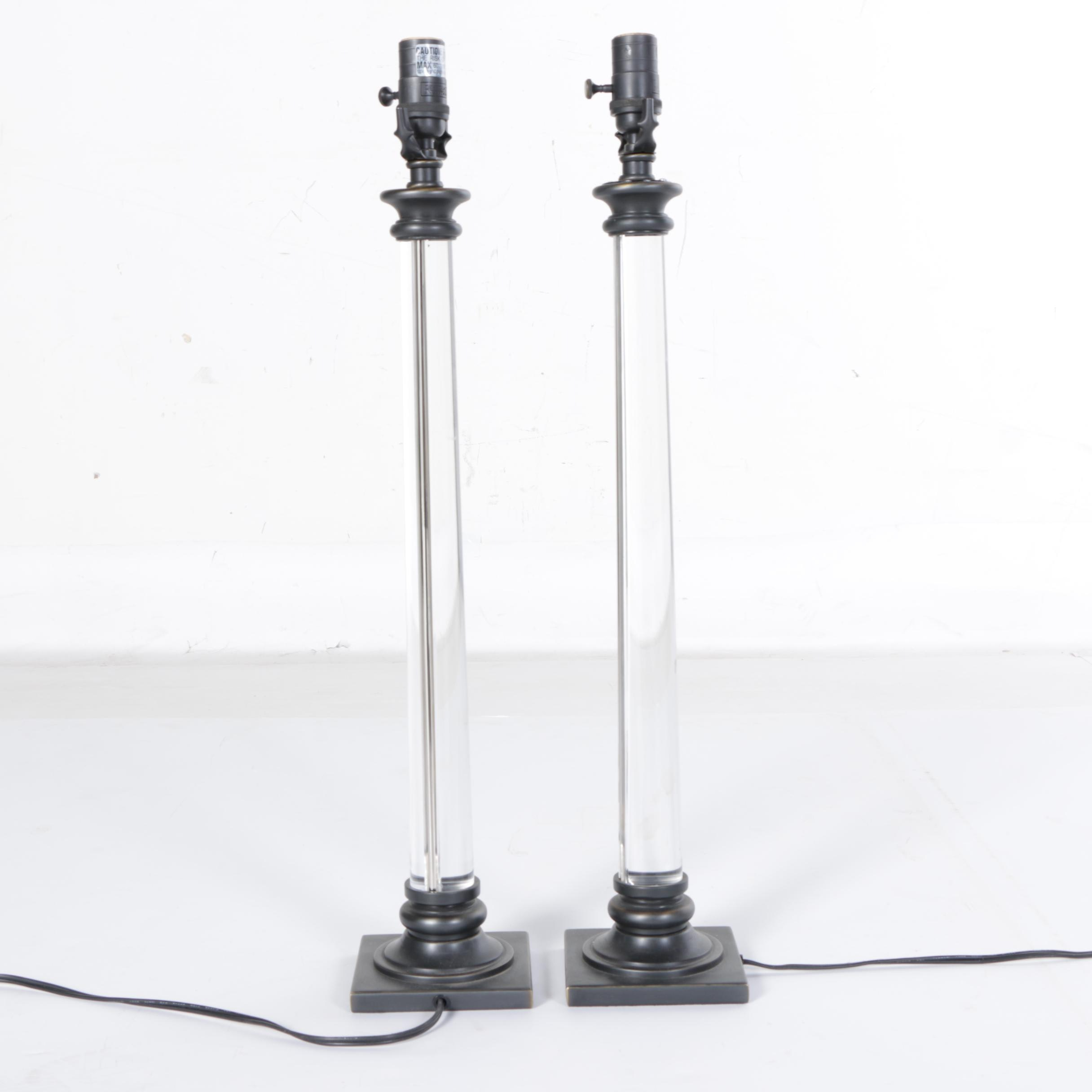 Restoration Hardware Candlestick L&s  sc 1 st  EBTH.com & Vintage Floor Lamps | Retro Table Lamps | Antique Lighting in Home ...